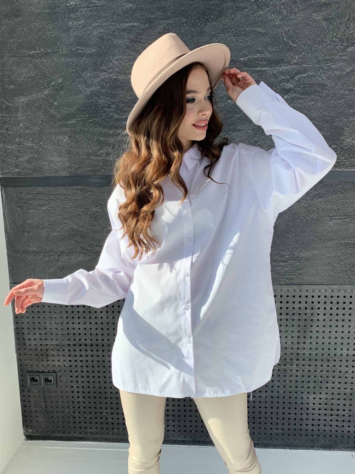 Найс рубашка из хлопковой ткани 10808 АРТ. 47287 Цвет: Белый - фото 9, интернет магазин tm-modus.ru