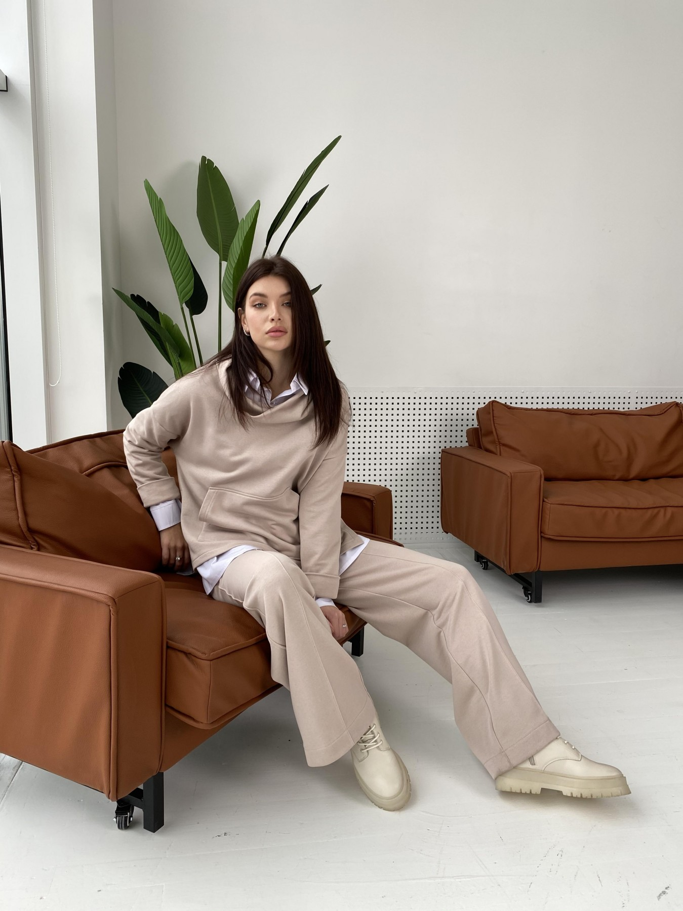 Кристиан костюм 3х нитка 10676 АРТ. 47249 Цвет: Кофе - фото 3, интернет магазин tm-modus.ru