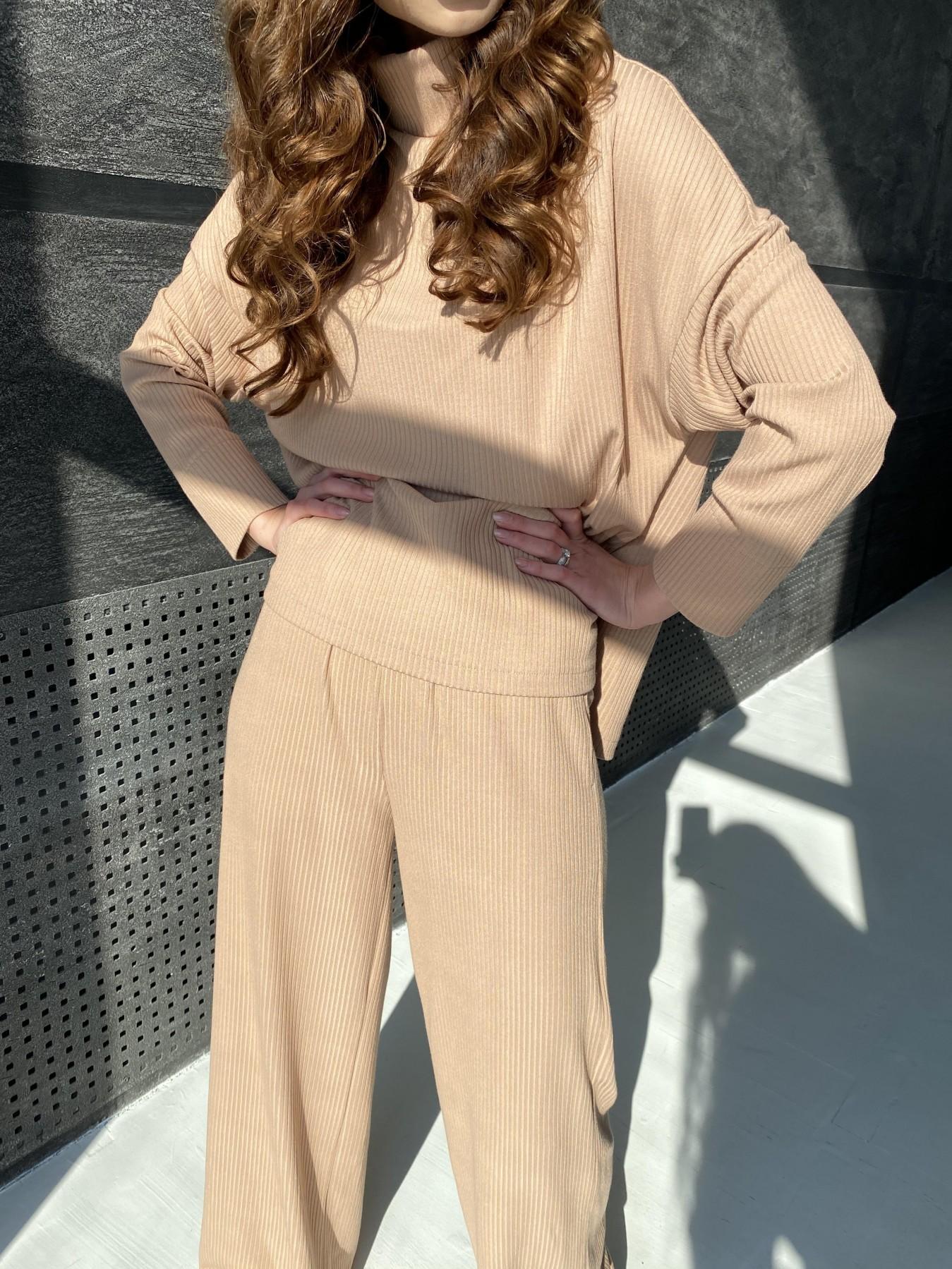 Лав Ю прогулочный костюм в рубчик 10826 АРТ. 47314 Цвет: Кемел - фото 4, интернет магазин tm-modus.ru