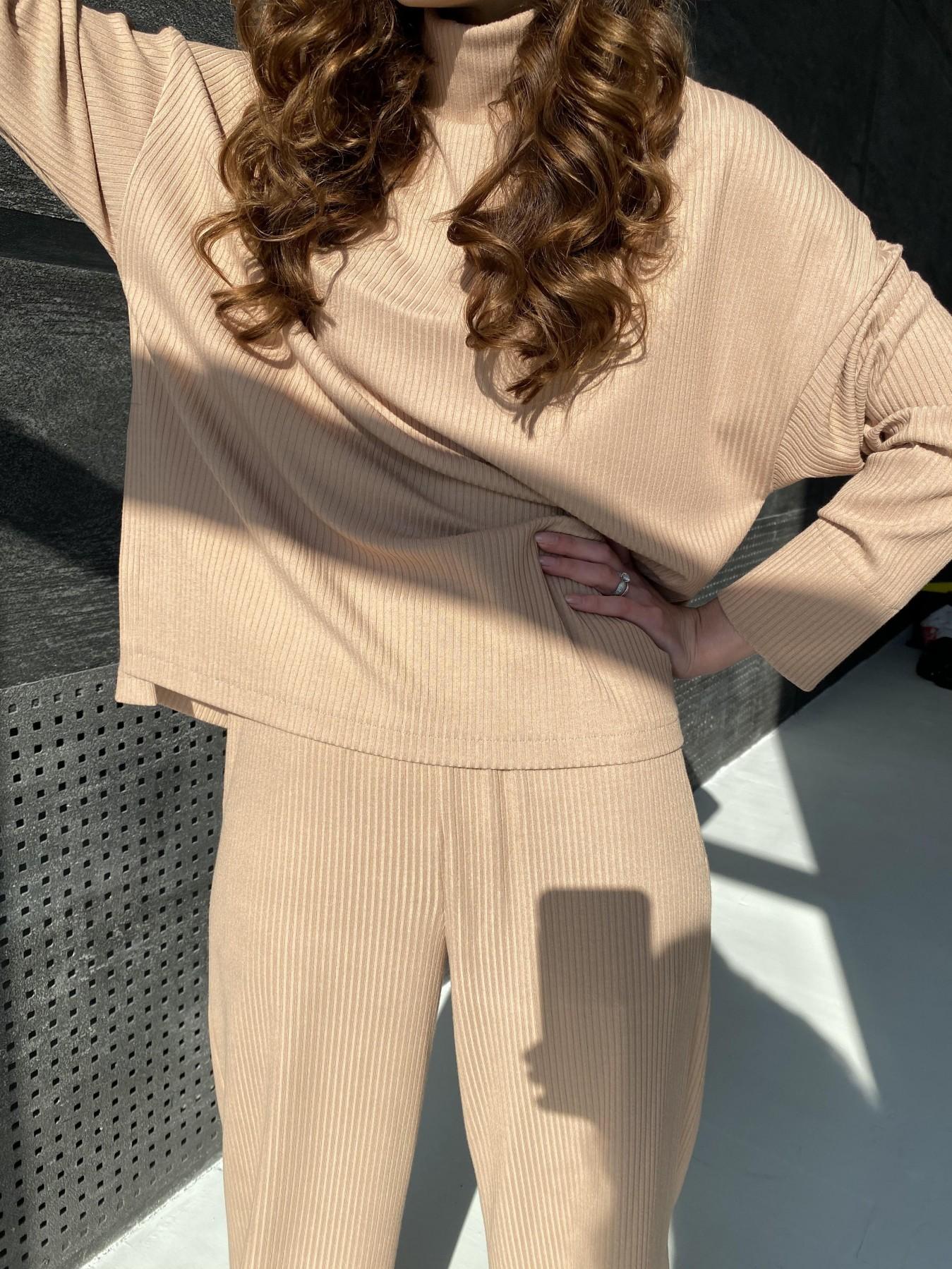 Лав Ю прогулочный костюм в рубчик 10826 АРТ. 47314 Цвет: Кемел - фото 5, интернет магазин tm-modus.ru
