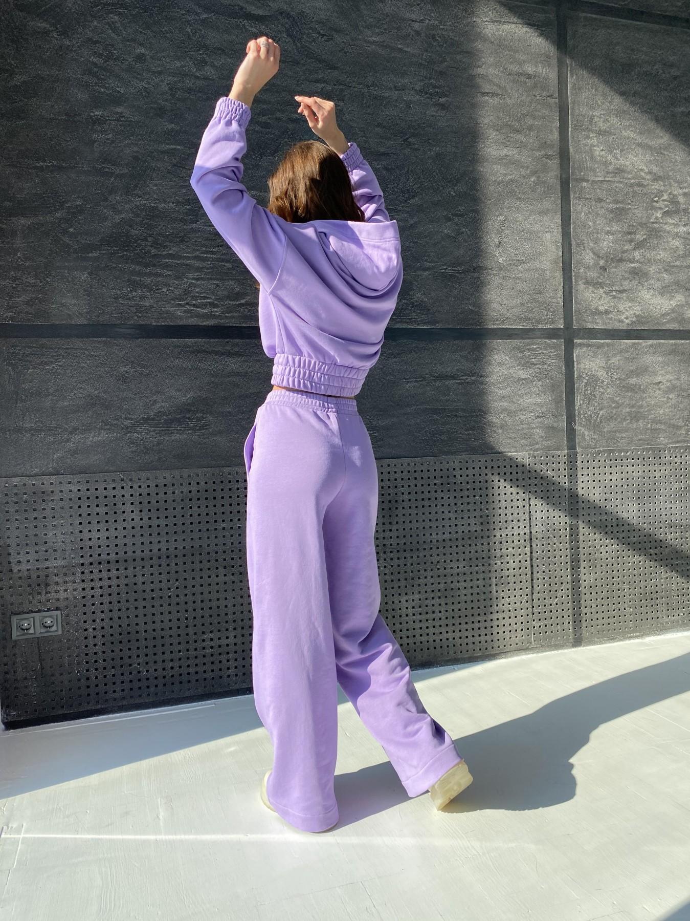 Бейби  прогулочный костюм из 3х нитки 10812 АРТ. 47283 Цвет: Лаванда - фото 4, интернет магазин tm-modus.ru