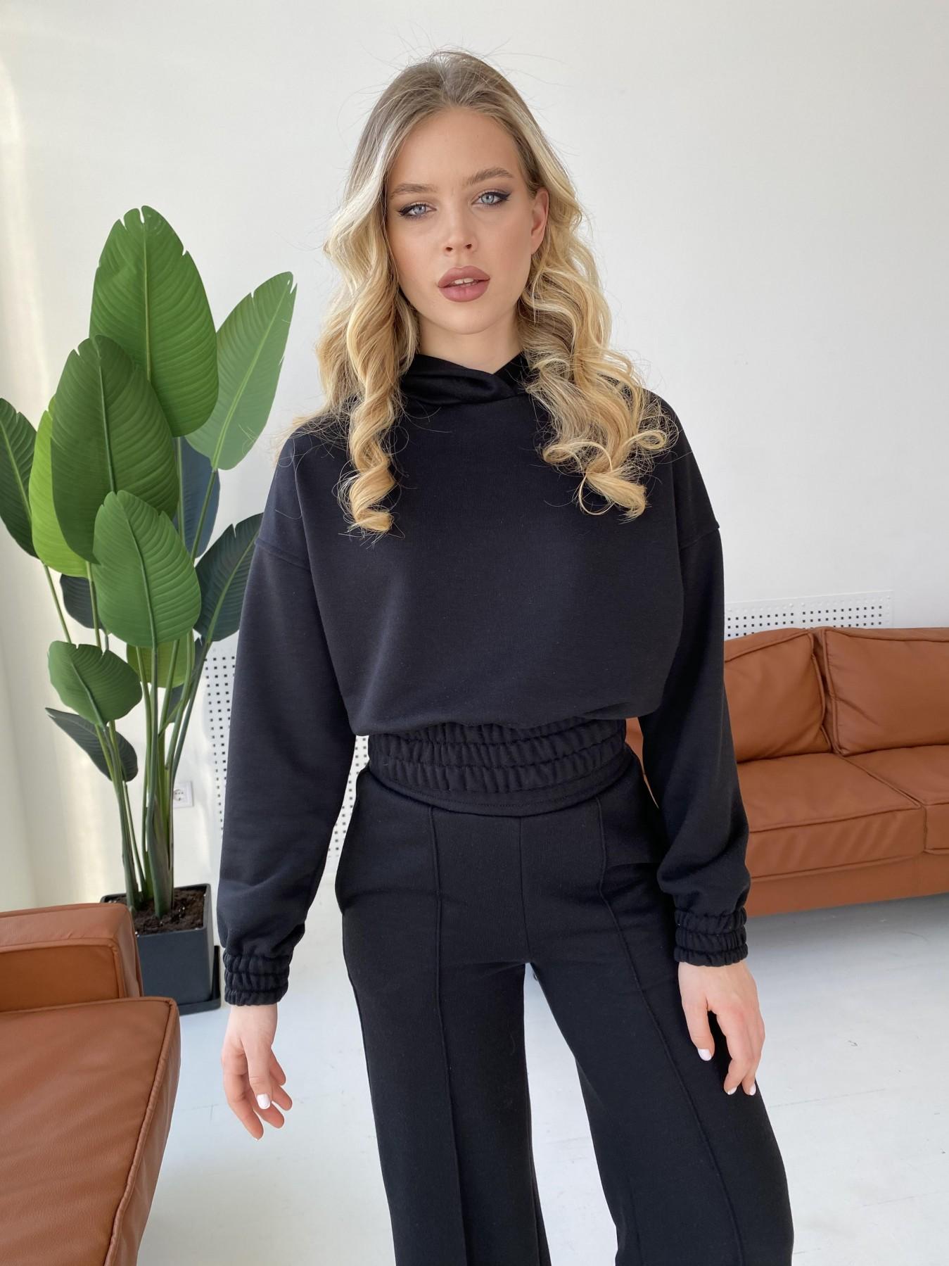 Бейби  прогулочный костюм из 3х нитки 10812 АРТ. 47281 Цвет: Черный - фото 1, интернет магазин tm-modus.ru