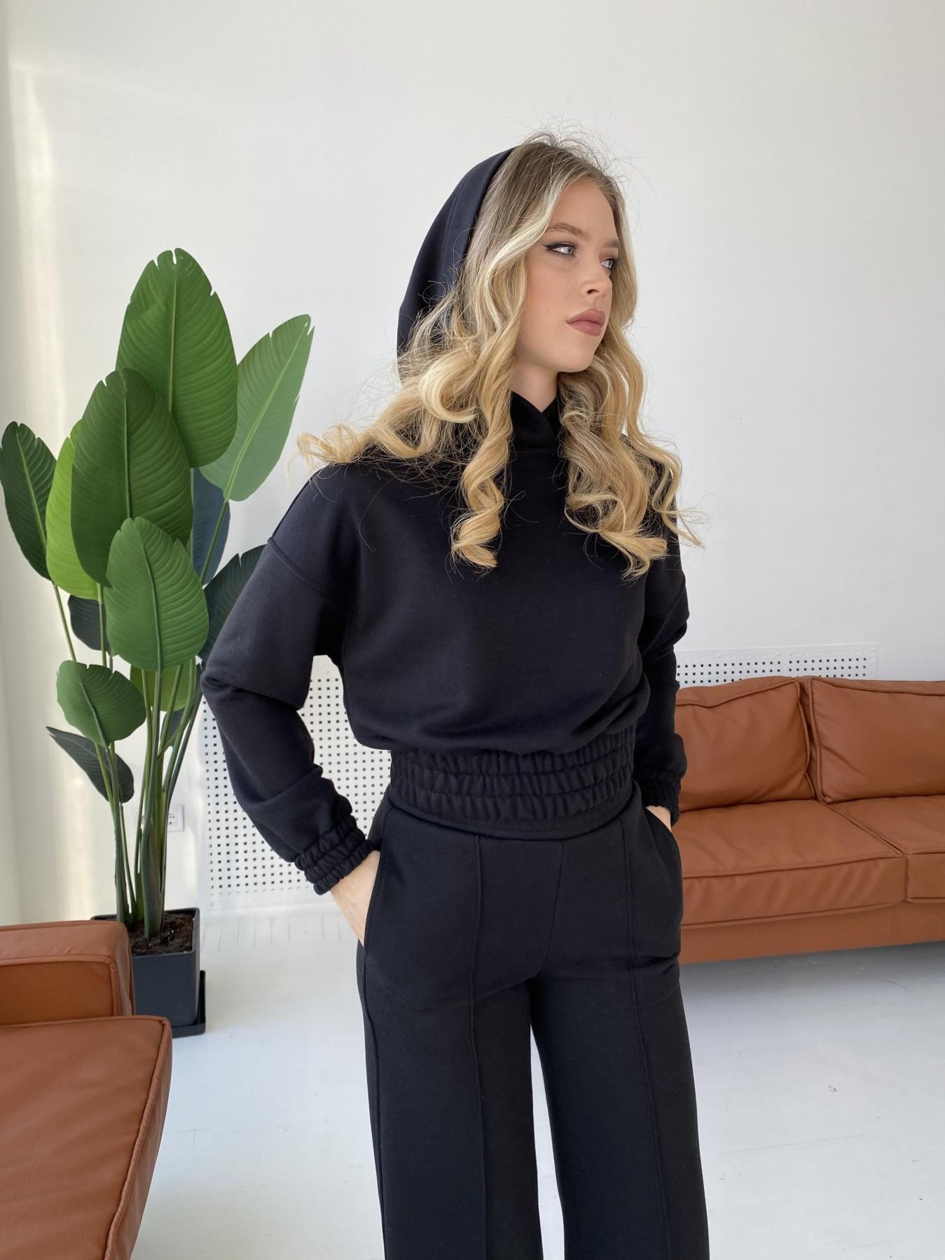 Бейби  прогулочный костюм из 3х нитки 10812 АРТ. 47281 Цвет: Черный - фото 7, интернет магазин tm-modus.ru