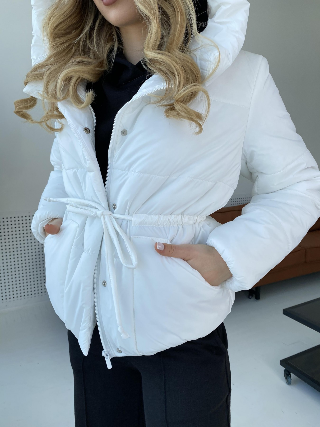 Пино куртка из плащевой ткани 10489 АРТ. 47297 Цвет: Белый - фото 2, интернет магазин tm-modus.ru