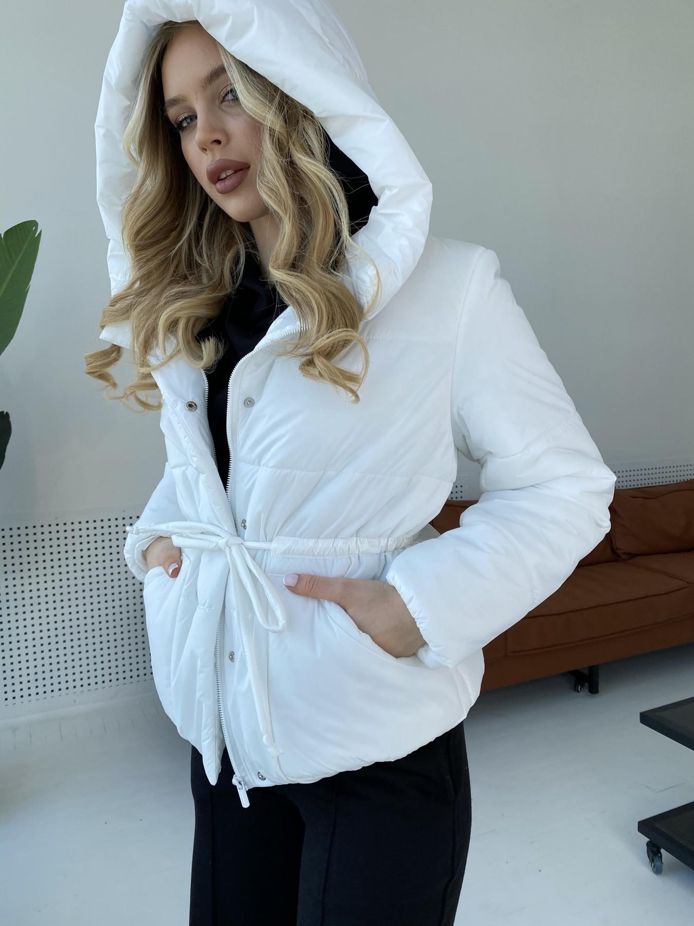 Пино куртка из плащевой ткани 10489 АРТ. 47297 Цвет: Белый - фото 3, интернет магазин tm-modus.ru