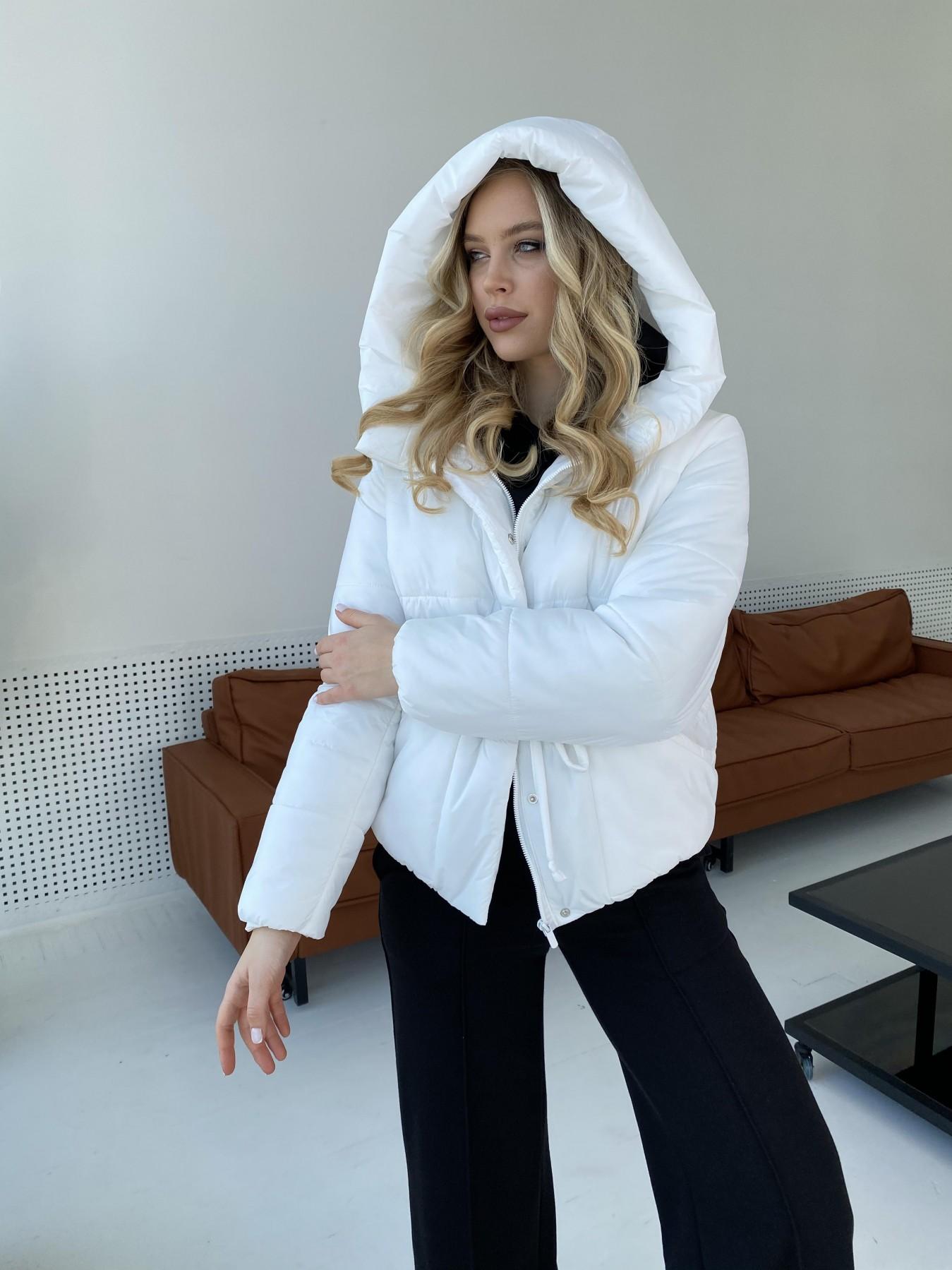 Пино куртка из плащевой ткани 10489 АРТ. 47297 Цвет: Белый - фото 4, интернет магазин tm-modus.ru