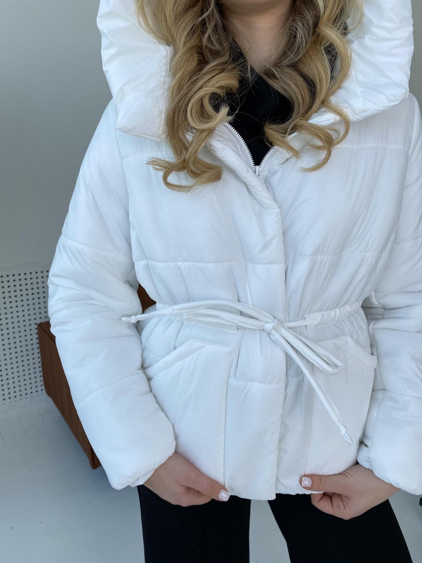 Пино куртка из плащевой ткани 10489 АРТ. 47297 Цвет: Белый - фото 8, интернет магазин tm-modus.ru