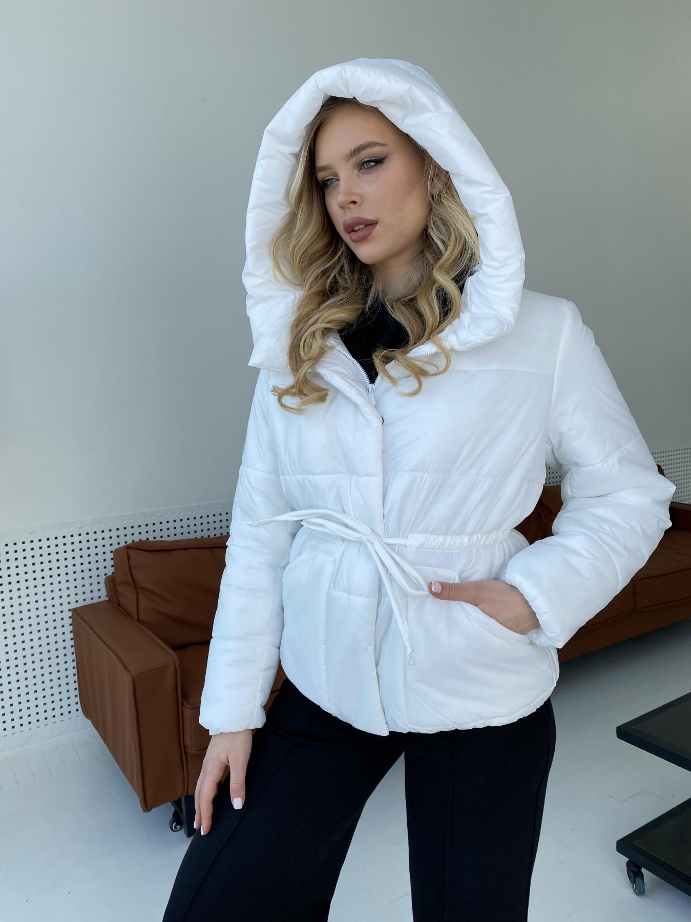 Пино куртка из плащевой ткани 10489 АРТ. 47297 Цвет: Белый - фото 9, интернет магазин tm-modus.ru