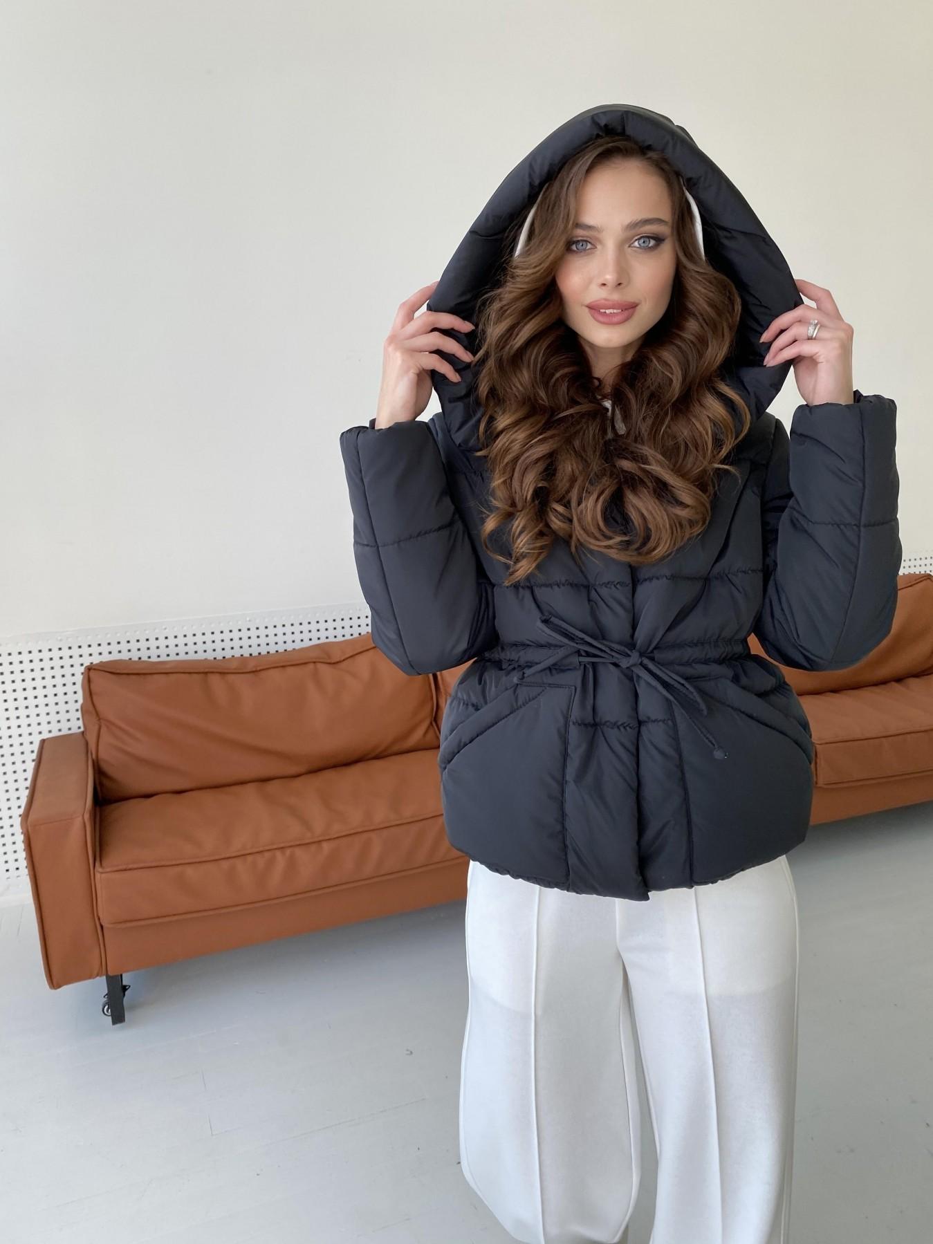 Пино куртка из плащевой ткани 10489 АРТ. 47270 Цвет: Черный - фото 1, интернет магазин tm-modus.ru