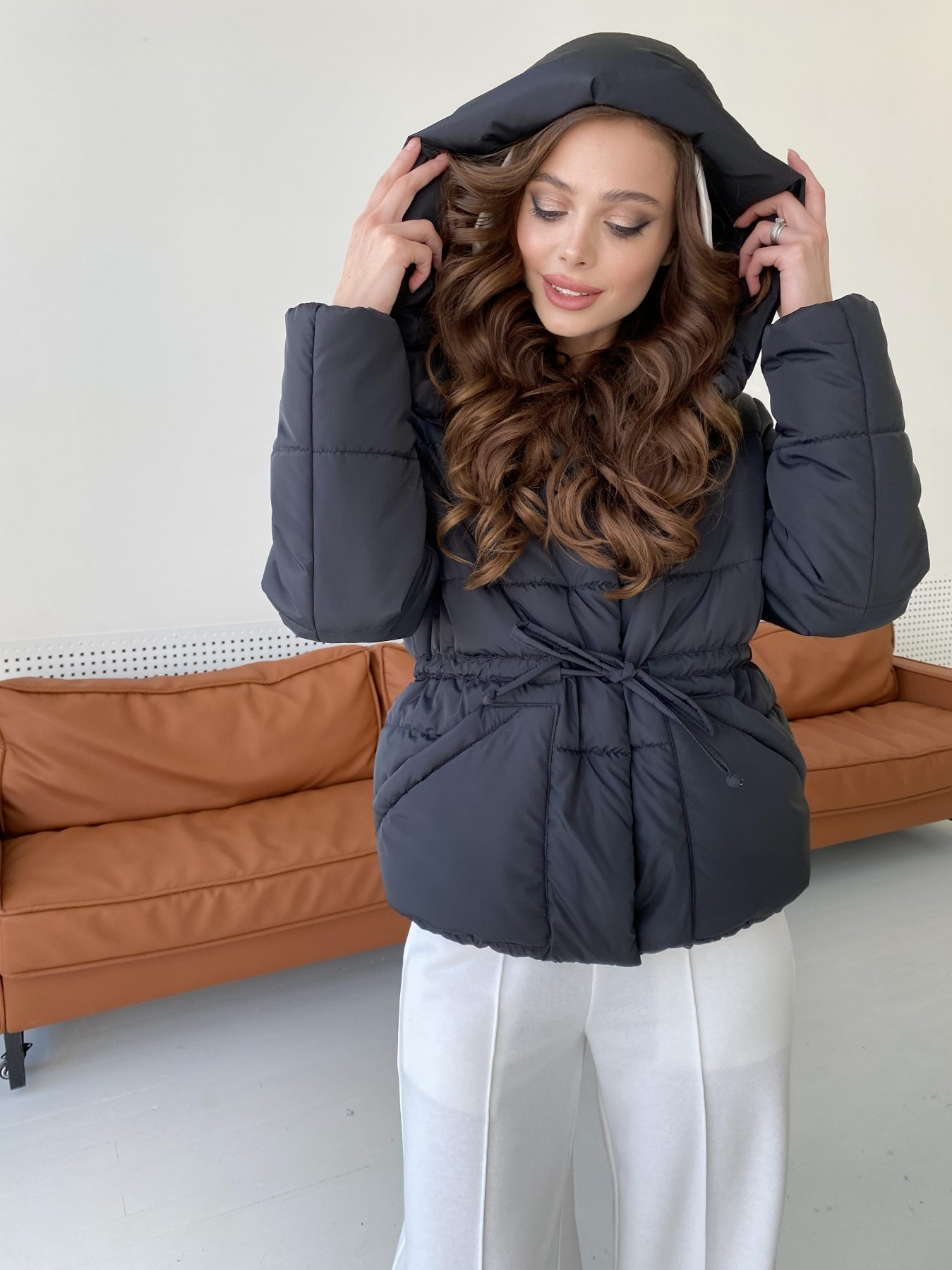 Пино куртка из плащевой ткани 10489 АРТ. 47270 Цвет: Черный - фото 3, интернет магазин tm-modus.ru
