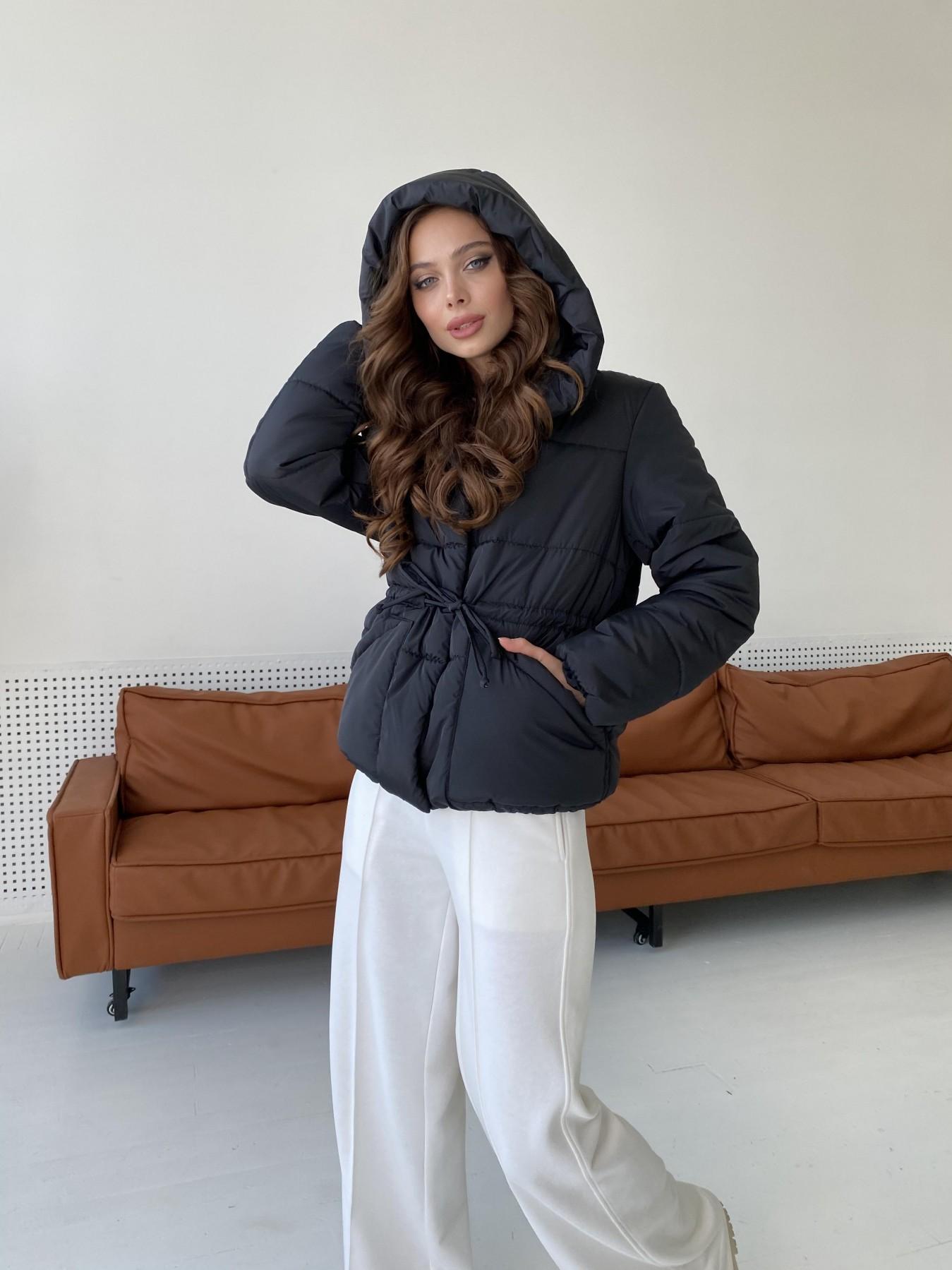 Пино куртка из плащевой ткани 10489 АРТ. 47270 Цвет: Черный - фото 4, интернет магазин tm-modus.ru