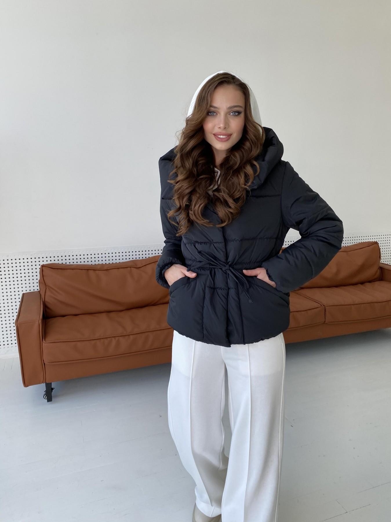 Пино куртка из плащевой ткани 10489 АРТ. 47270 Цвет: Черный - фото 6, интернет магазин tm-modus.ru