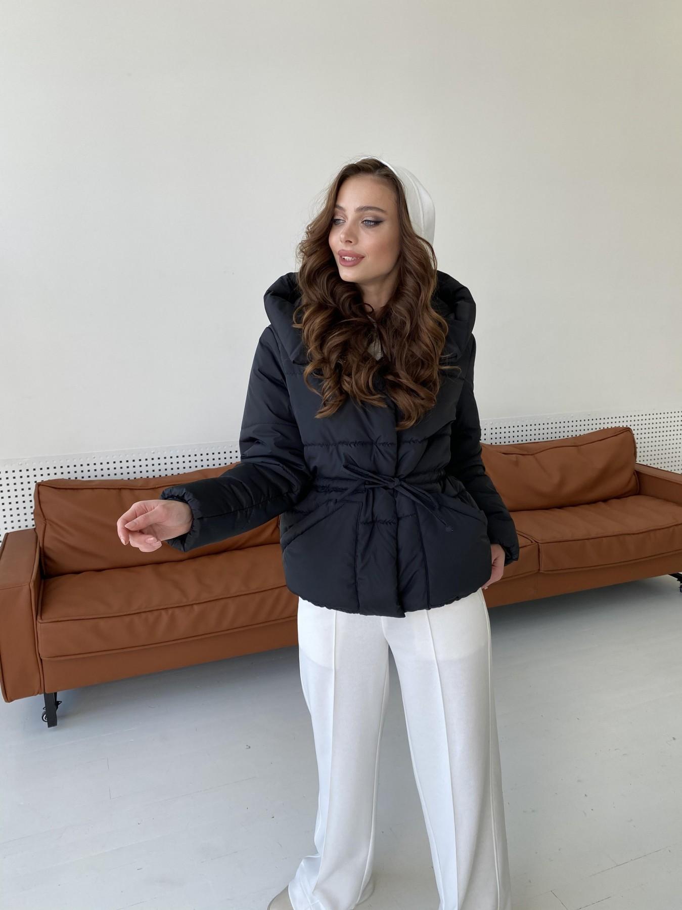 Пино куртка из плащевой ткани 10489 АРТ. 47270 Цвет: Черный - фото 7, интернет магазин tm-modus.ru