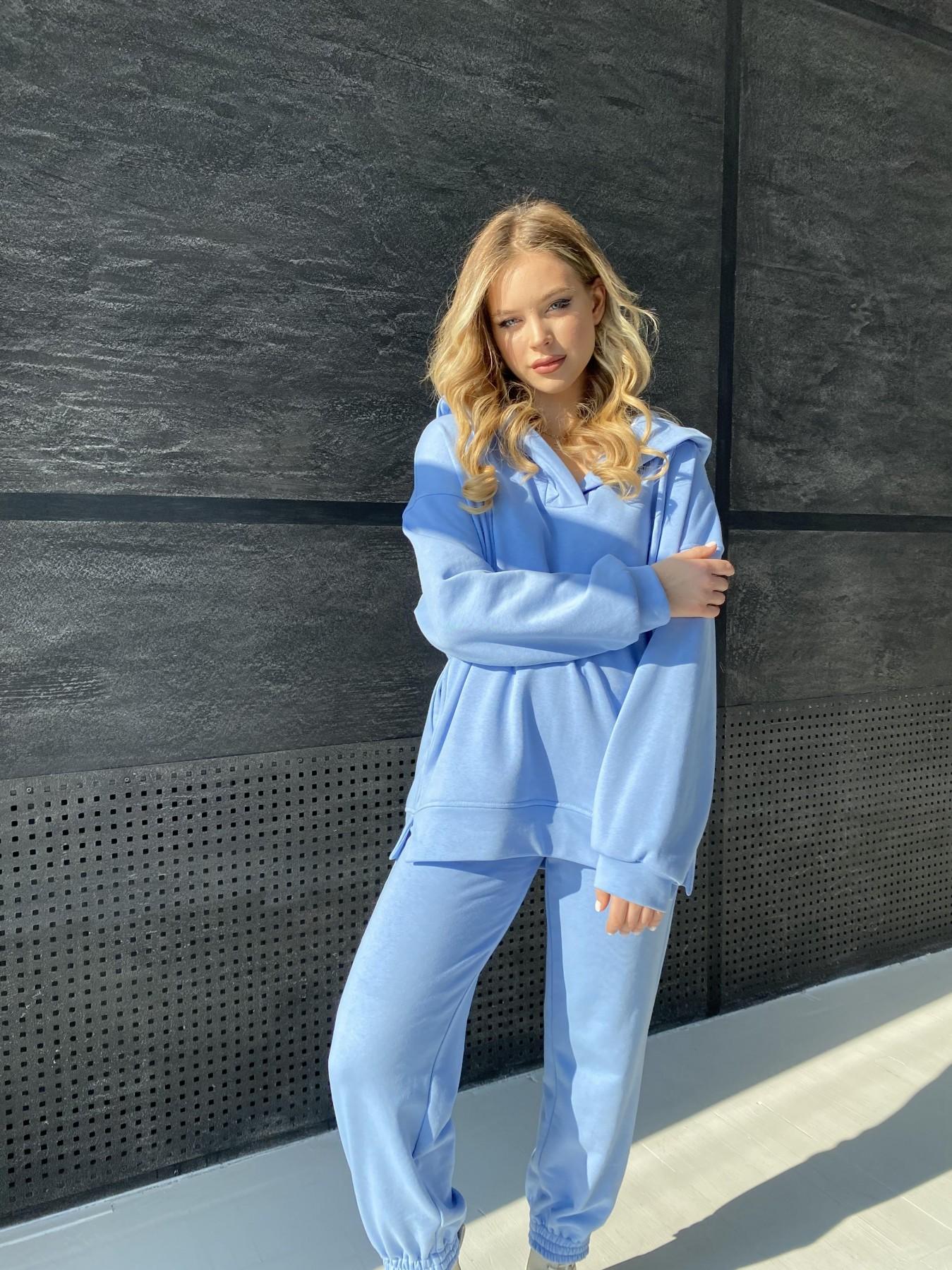 Ярис костюм из 3х нитки 10789 АРТ. 47260 Цвет: Голубой - фото 2, интернет магазин tm-modus.ru