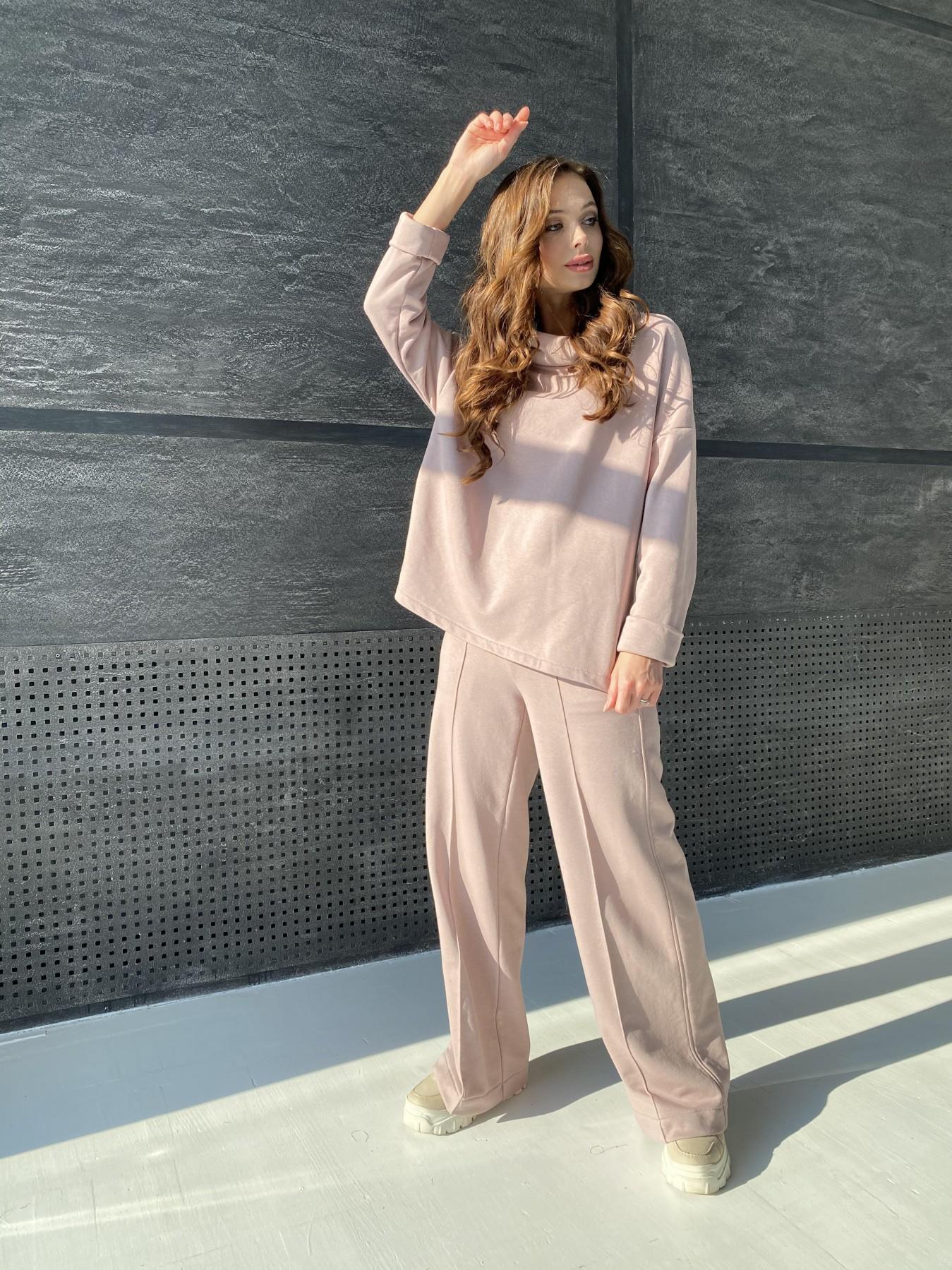 Джаст костюм Oversize  3х нитка 10564 АРТ. 46912 Цвет: Кофе - фото 3, интернет магазин tm-modus.ru