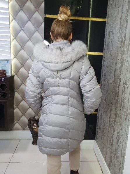 """Купить Фиджи Песец плащевка пальто Зима """"10702"""" оптом и в розницу"""