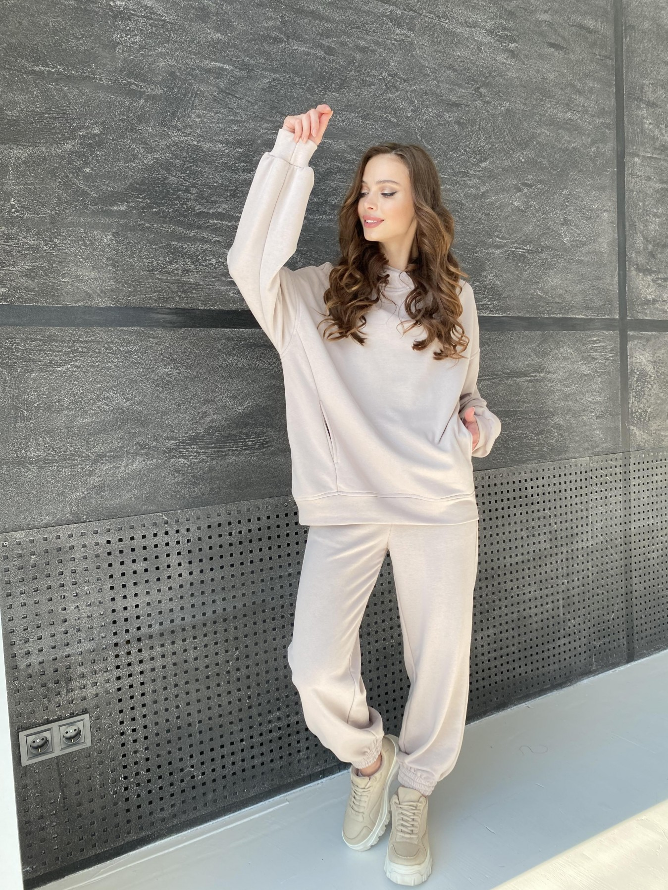 Марион костюм из 3х нитки 10581 АРТ. 46936 Цвет: Бежевый - фото 5, интернет магазин tm-modus.ru