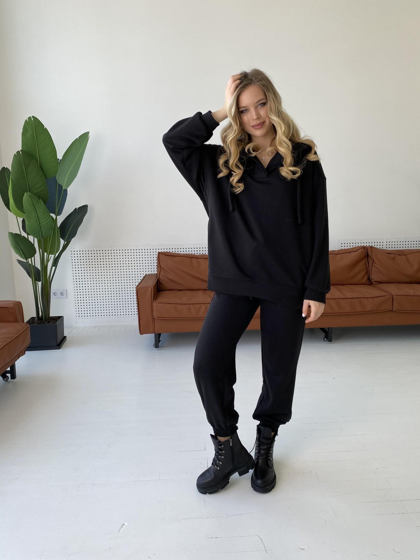 Ярис костюм из 3х нитки 10789 АРТ. 47261 Цвет: Черный - фото 6, интернет магазин tm-modus.ru