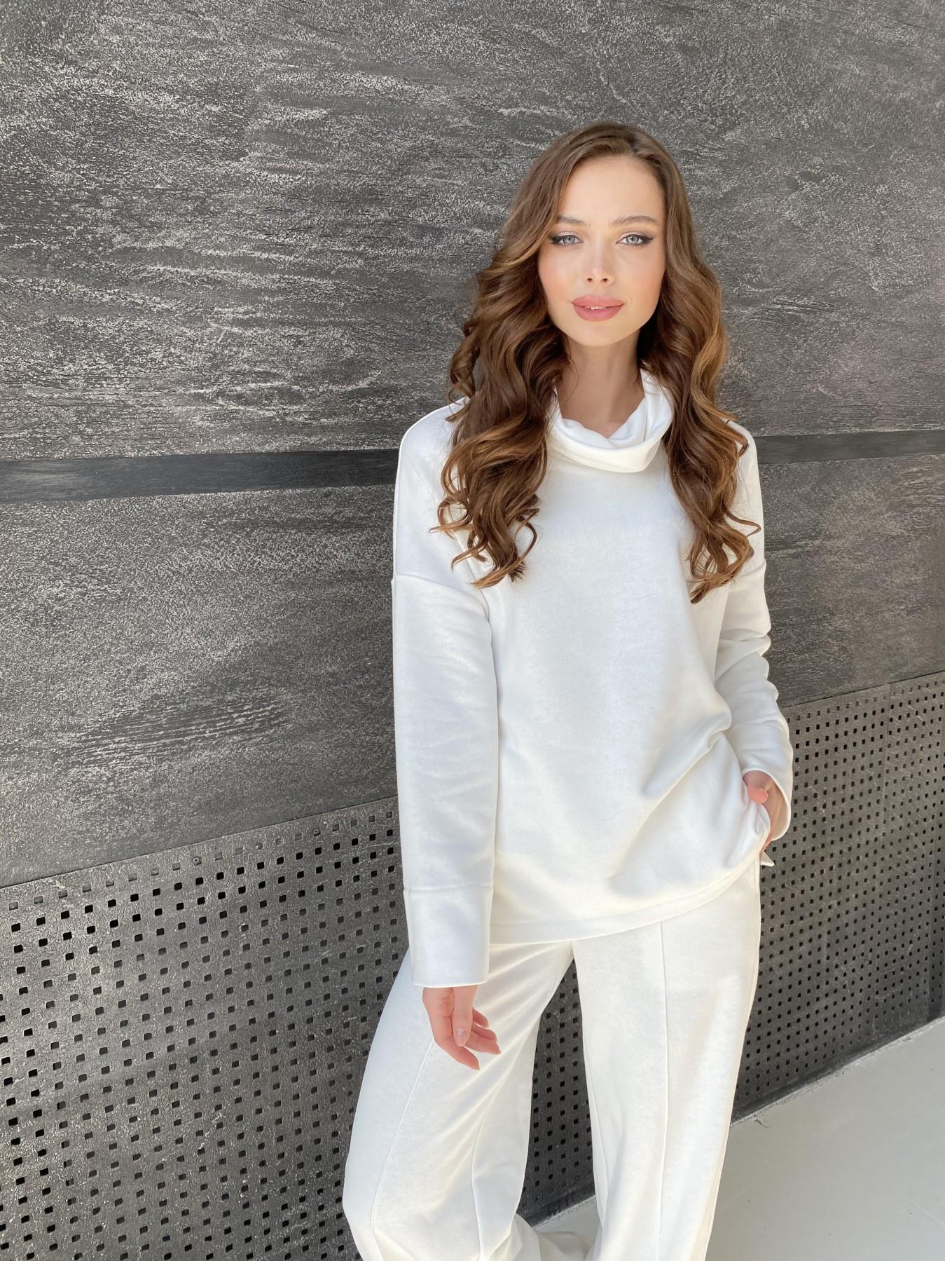 Джаст костюм Oversize  3х нитка 10564 АРТ. 47240 Цвет: Молоко - фото 5, интернет магазин tm-modus.ru