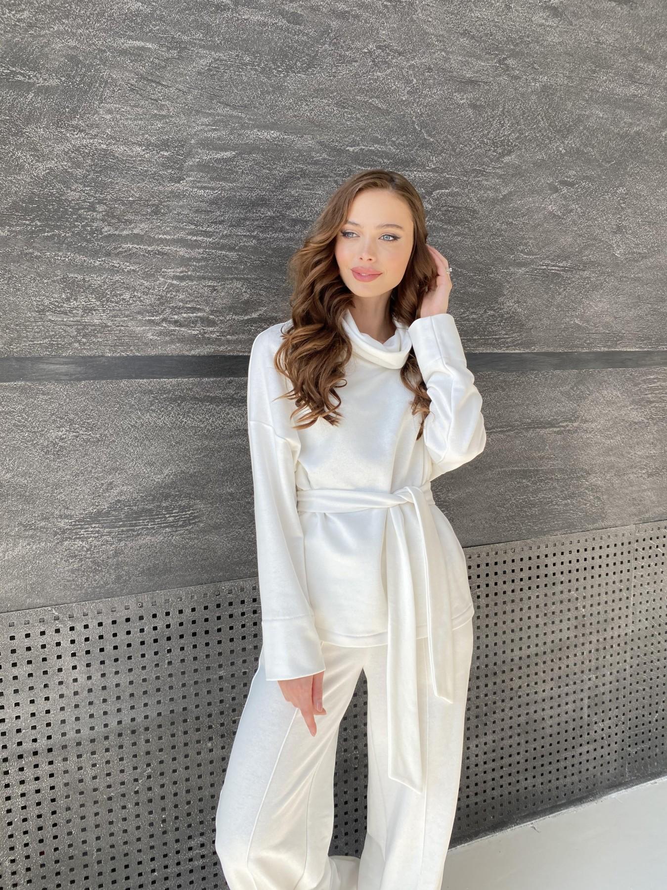 Джаст костюм Oversize  3х нитка 10564 АРТ. 47240 Цвет: Молоко - фото 8, интернет магазин tm-modus.ru