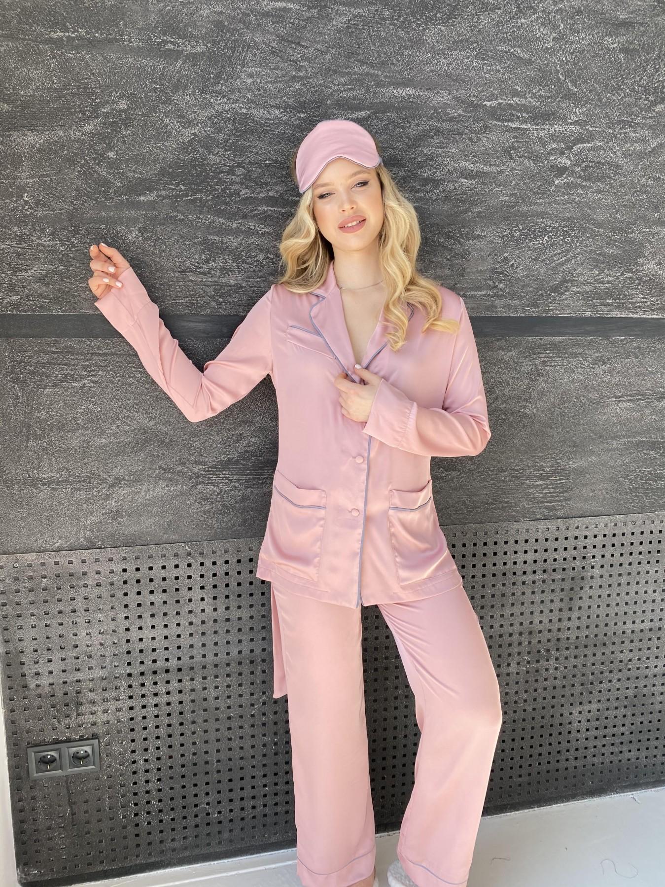 Шайн костюм из шелка  10778 АРТ. 47213 Цвет: Розовый - фото 2, интернет магазин tm-modus.ru