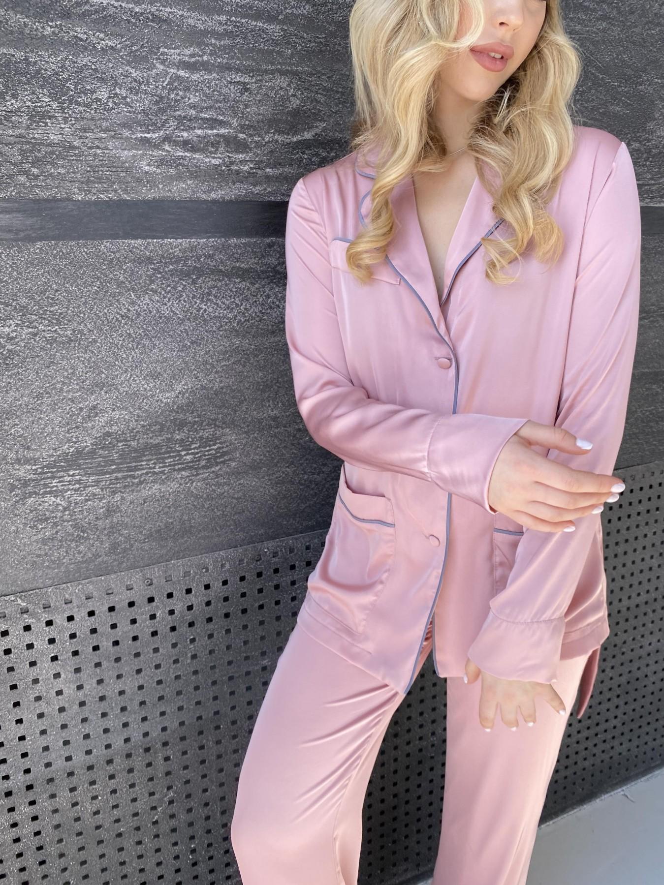 Шайн костюм из шелка  10778 АРТ. 47213 Цвет: Розовый - фото 3, интернет магазин tm-modus.ru