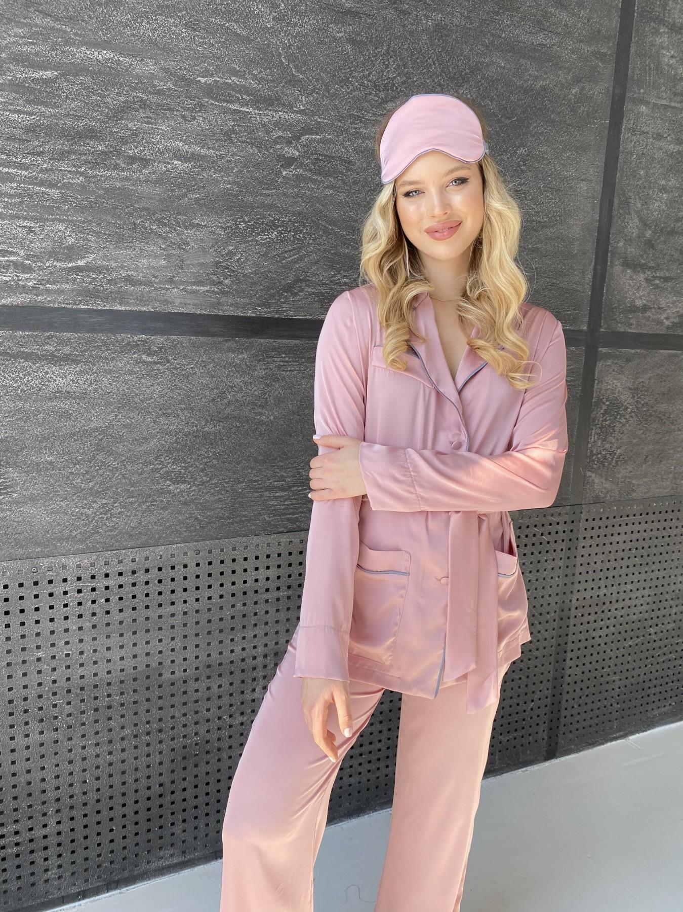 Шайн костюм из шелка  10778 АРТ. 47213 Цвет: Розовый - фото 4, интернет магазин tm-modus.ru