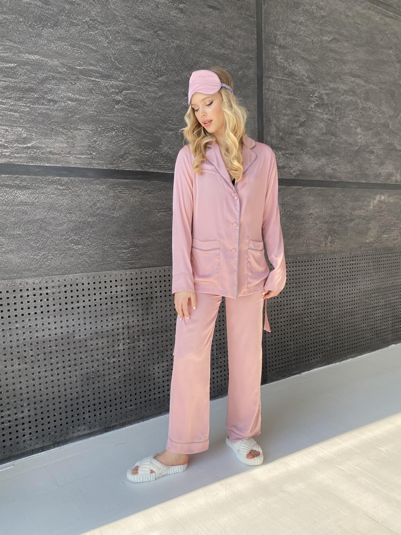 Шайн костюм из шелка  10778 АРТ. 47213 Цвет: Розовый - фото 6, интернет магазин tm-modus.ru