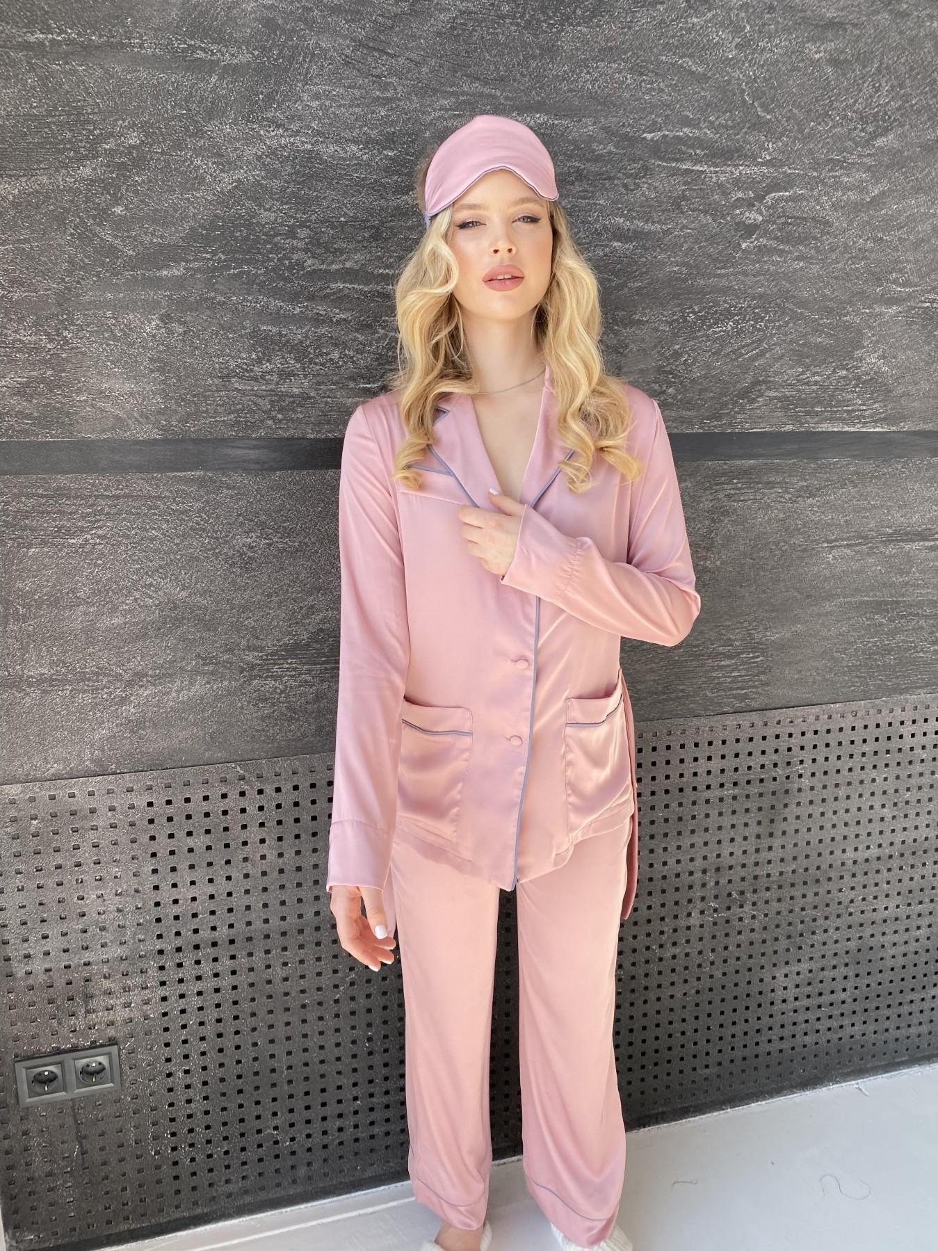 Шайн костюм из шелка  10778 АРТ. 47213 Цвет: Розовый - фото 7, интернет магазин tm-modus.ru