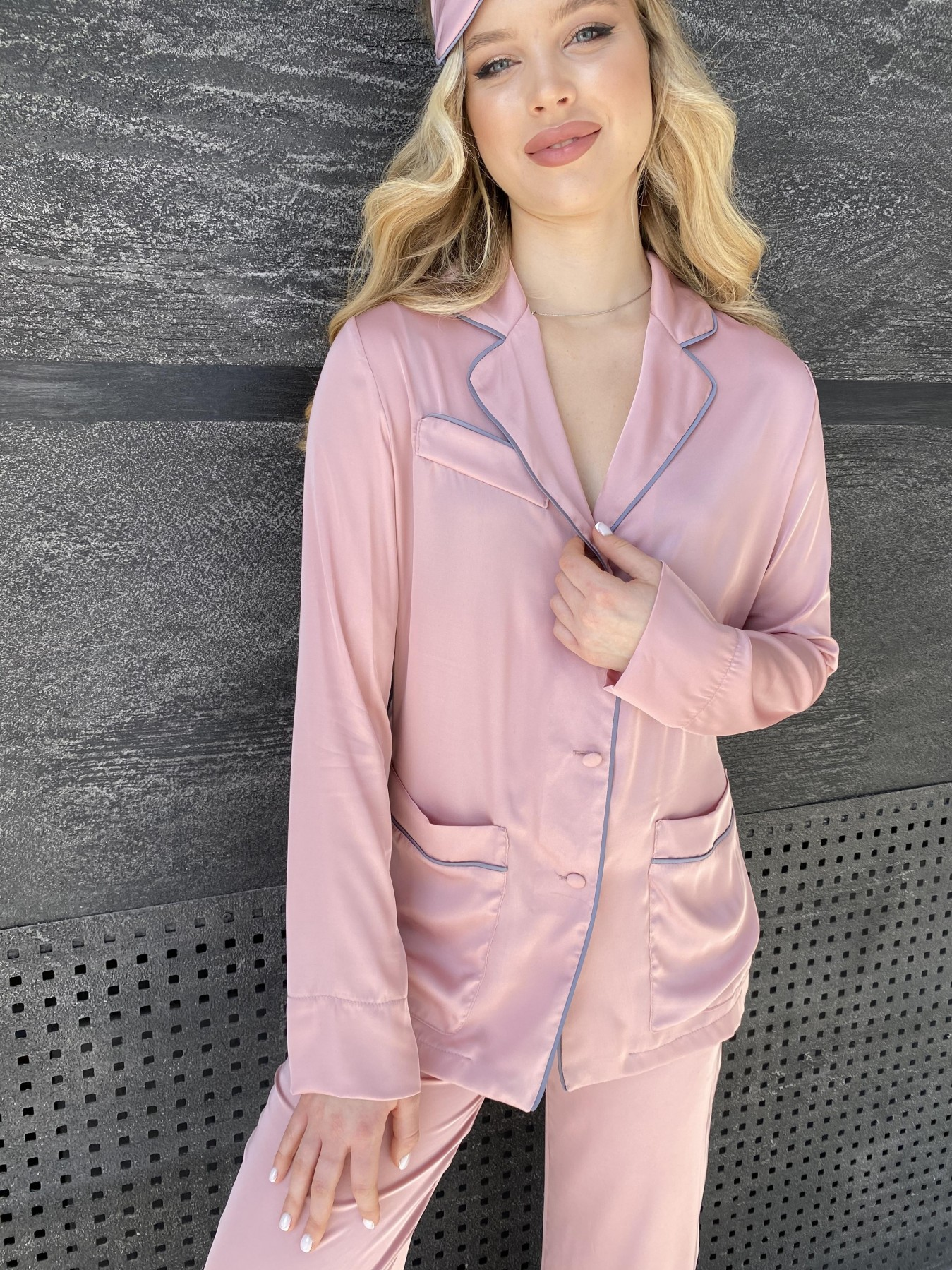 Шайн костюм из шелка  10778 АРТ. 47213 Цвет: Розовый - фото 8, интернет магазин tm-modus.ru
