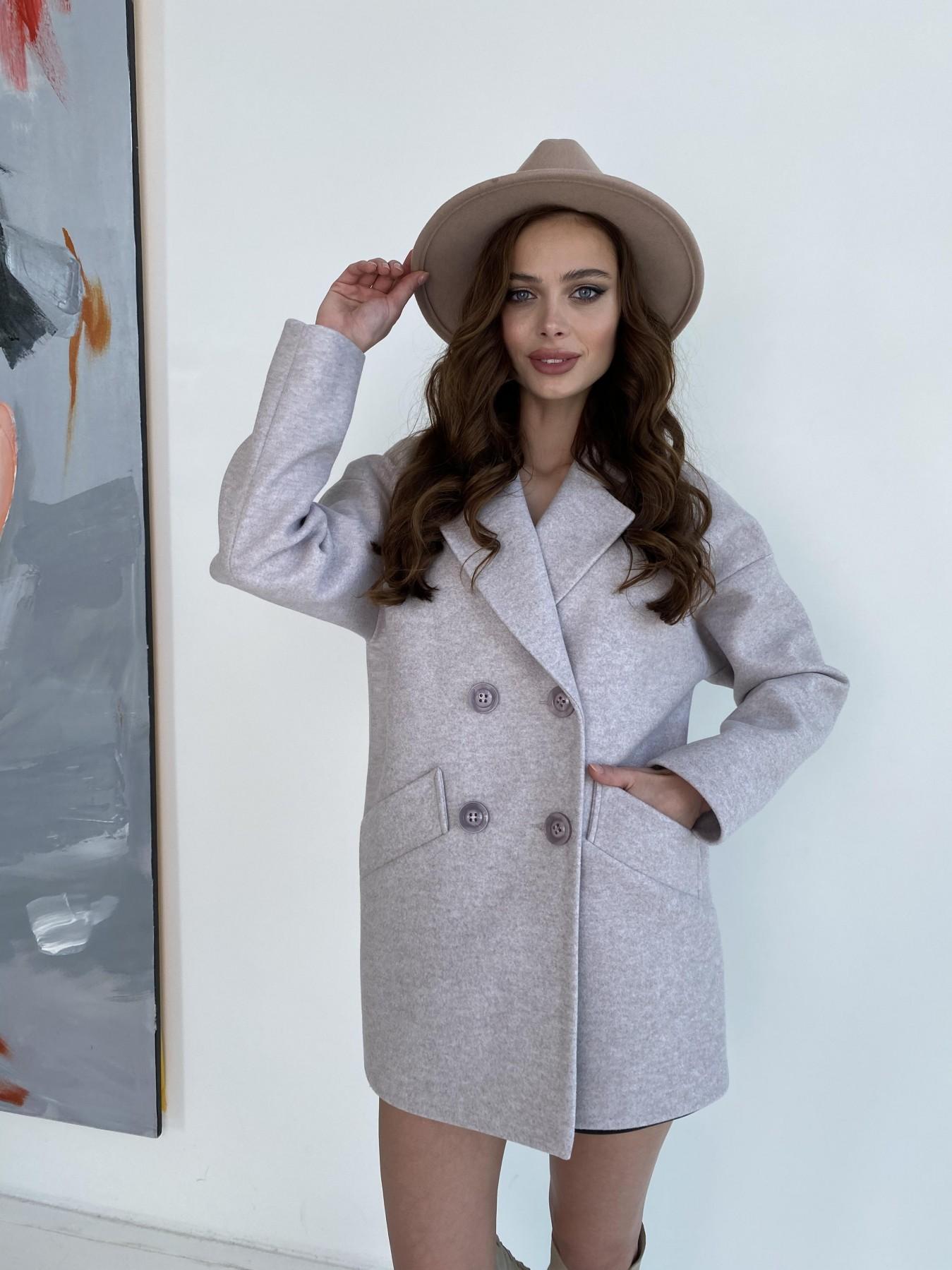 Пальто женские демисезонные недорого от Modus Бонд пальто  кашемировое меланж на трикотаже  10644