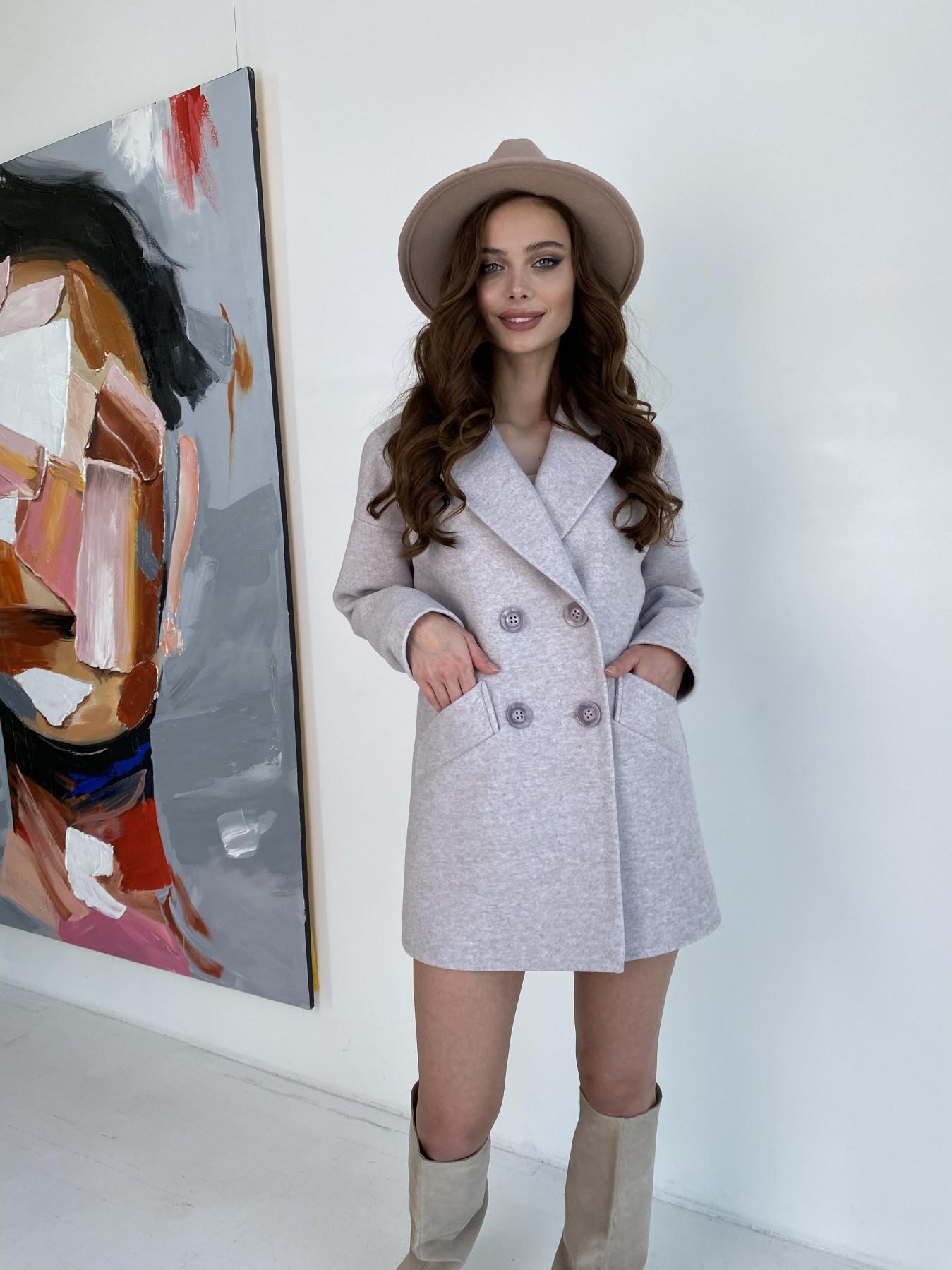Бонд пальто  кашемировое меланж на трикотаже  10644 АРТ. 47161 Цвет: Бежевый меланж - фото 4, интернет магазин tm-modus.ru