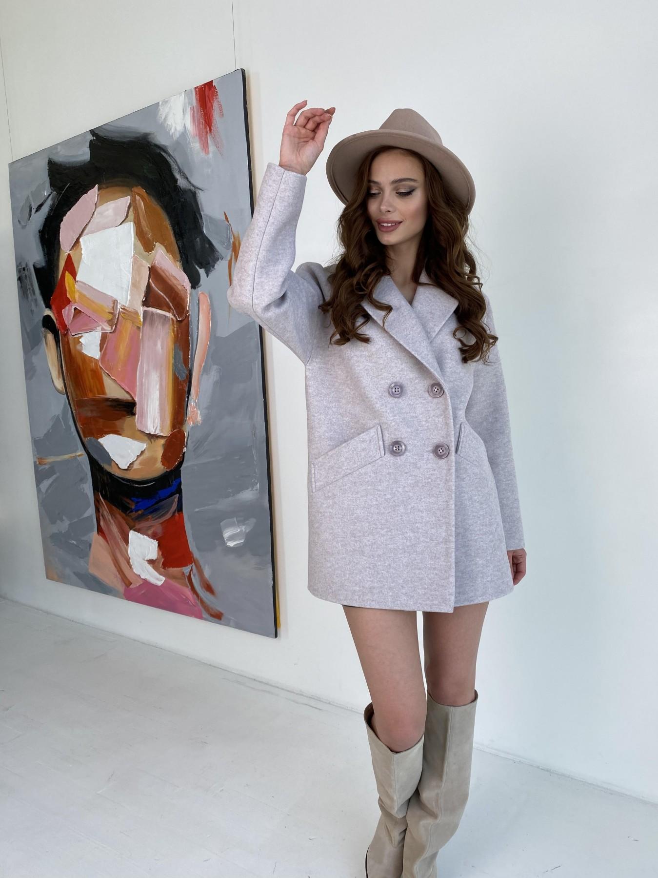 Бонд пальто  кашемировое меланж на трикотаже  10644 АРТ. 47161 Цвет: Бежевый меланж - фото 5, интернет магазин tm-modus.ru