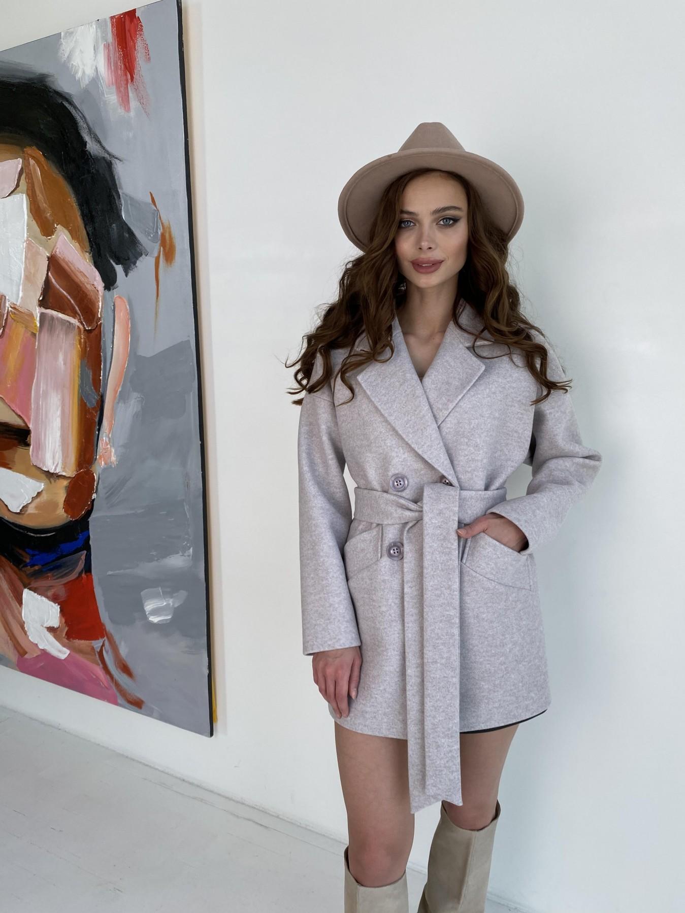 Бонд пальто  кашемировое меланж на трикотаже  10644 АРТ. 47161 Цвет: Бежевый меланж - фото 6, интернет магазин tm-modus.ru