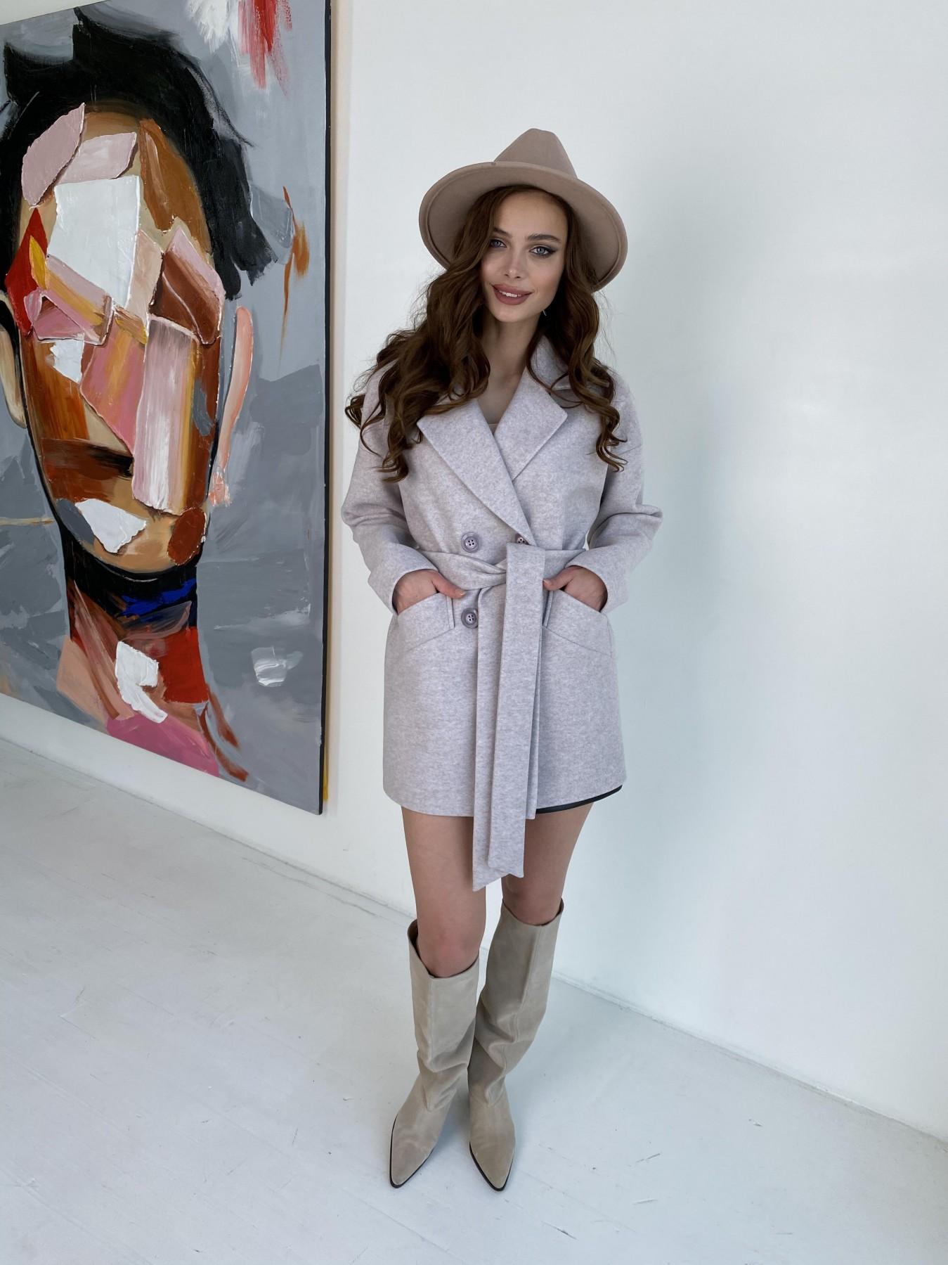 Бонд пальто  кашемировое меланж на трикотаже  10644 АРТ. 47161 Цвет: Бежевый меланж - фото 7, интернет магазин tm-modus.ru