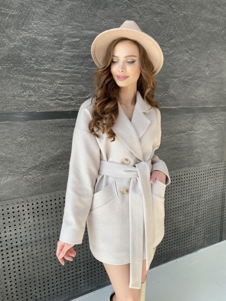 "Купити ""Бонд Диагональ"" пальто из пальтовой ткани  10757 оптом і в роздріб"