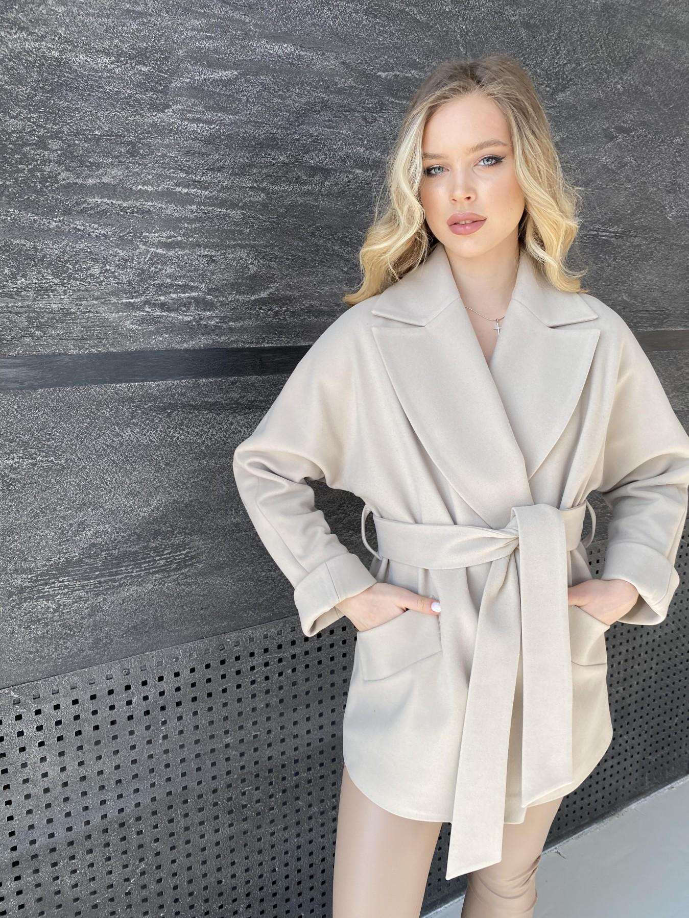Дефиле пальто из кашемира 10585 АРТ. 47272 Цвет: Бежевый Светлый - фото 2, интернет магазин tm-modus.ru