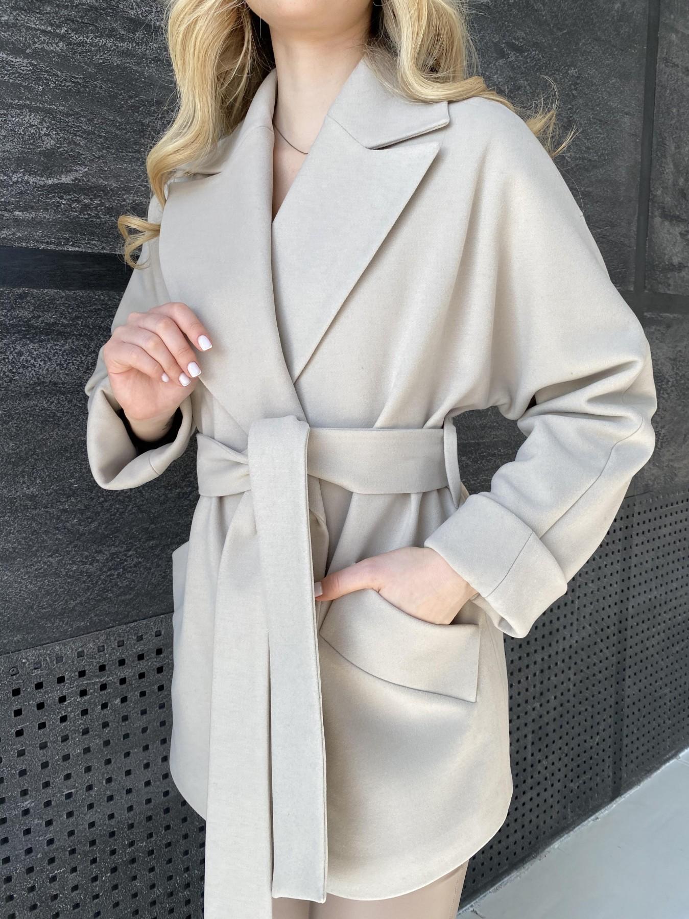 Дефиле пальто из кашемира 10585 АРТ. 47272 Цвет: Бежевый Светлый - фото 3, интернет магазин tm-modus.ru