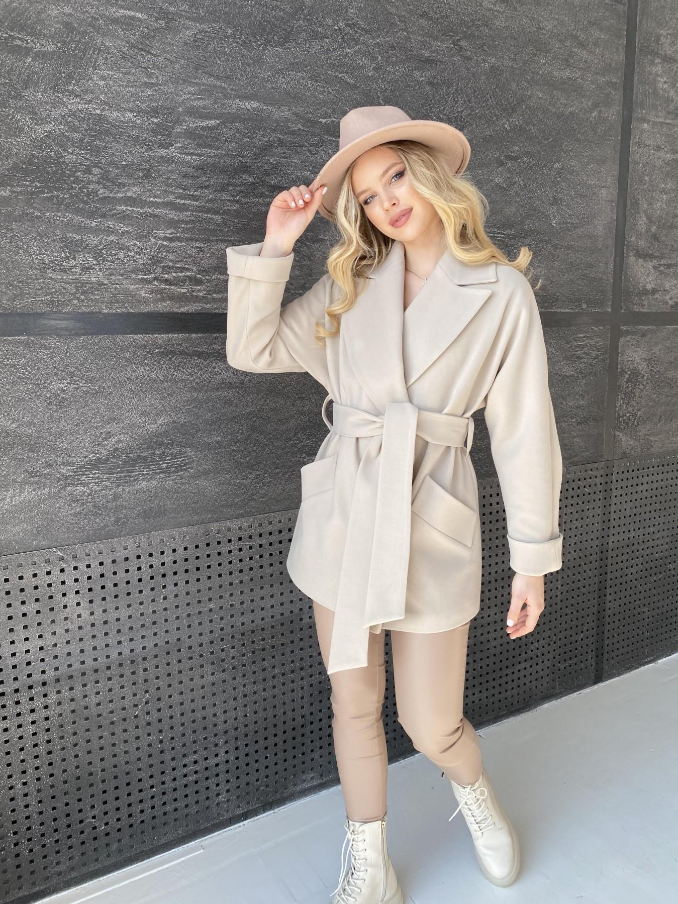 Дефиле пальто из кашемира 10585 АРТ. 47272 Цвет: Бежевый Светлый - фото 5, интернет магазин tm-modus.ru