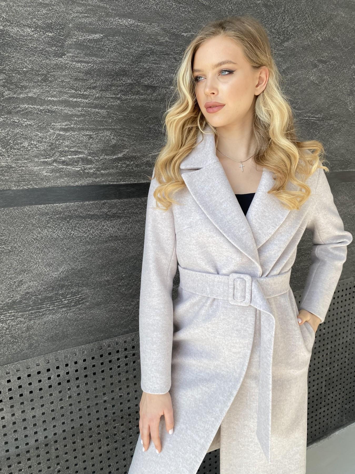 Севен пальто меланж  из кашемира 10625 АРТ. 47160 Цвет: Бежевый меланж - фото 2, интернет магазин tm-modus.ru