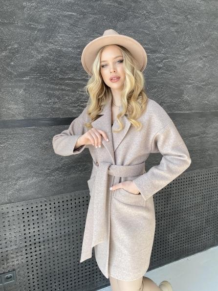 """Купить """"Сенсей"""" пальто из кашемира меланж  10745 оптом и в розницу"""