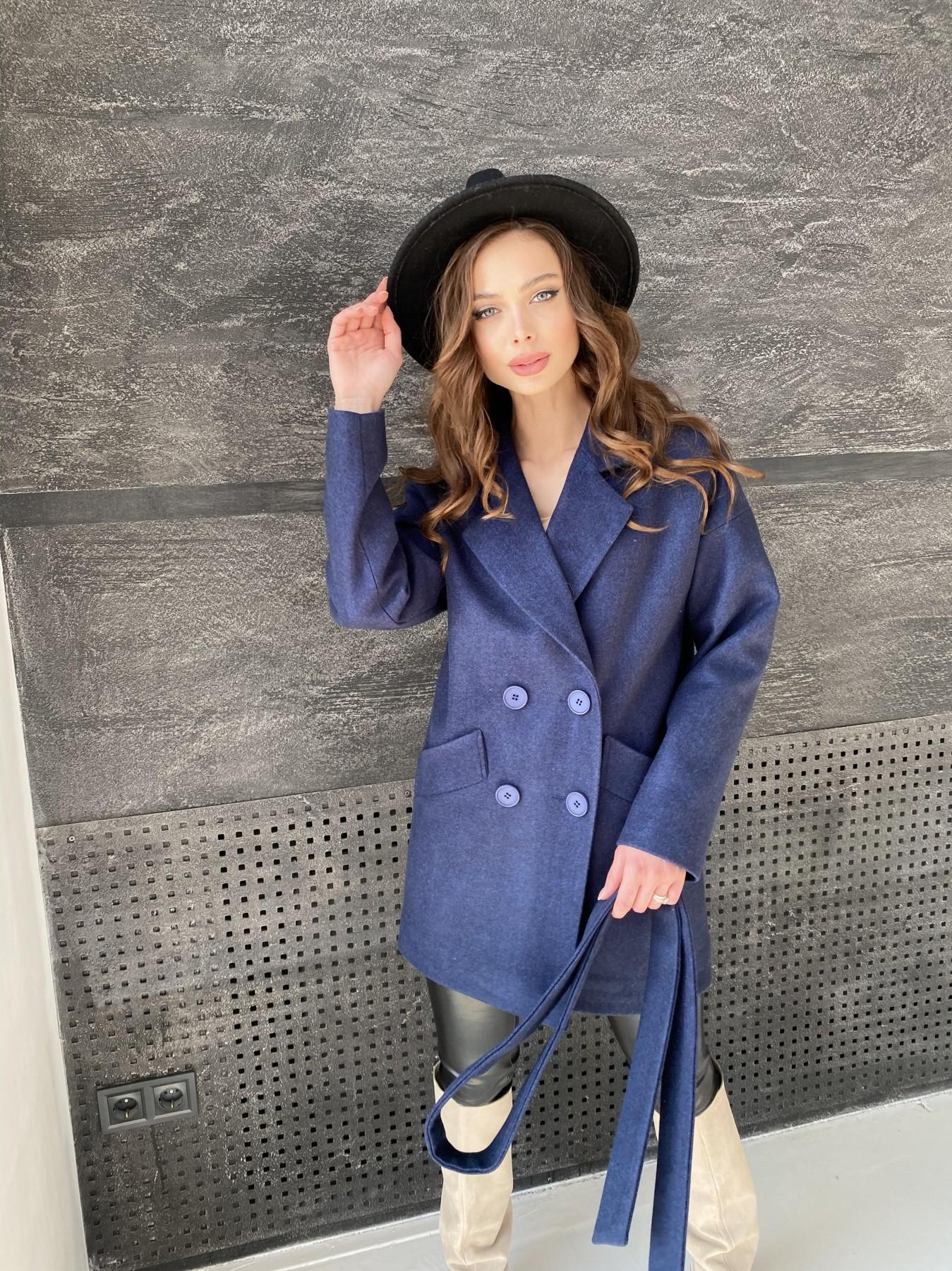 Пальто демисезонное женское Украина Modus Бонд пальто  кашемировое меланж на трикотаже  10644