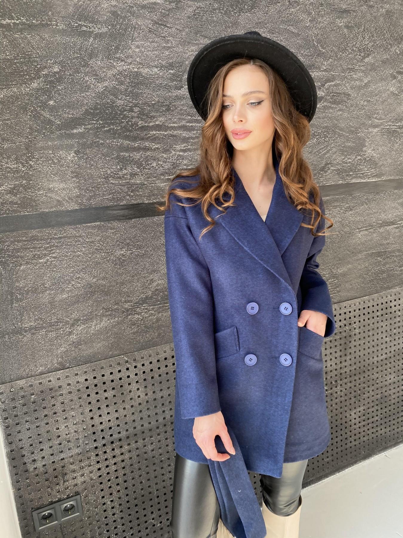 Бонд пальто  кашемировое меланж на трикотаже  10644 АРТ. 47180 Цвет: Т.синий 17 - фото 5, интернет магазин tm-modus.ru