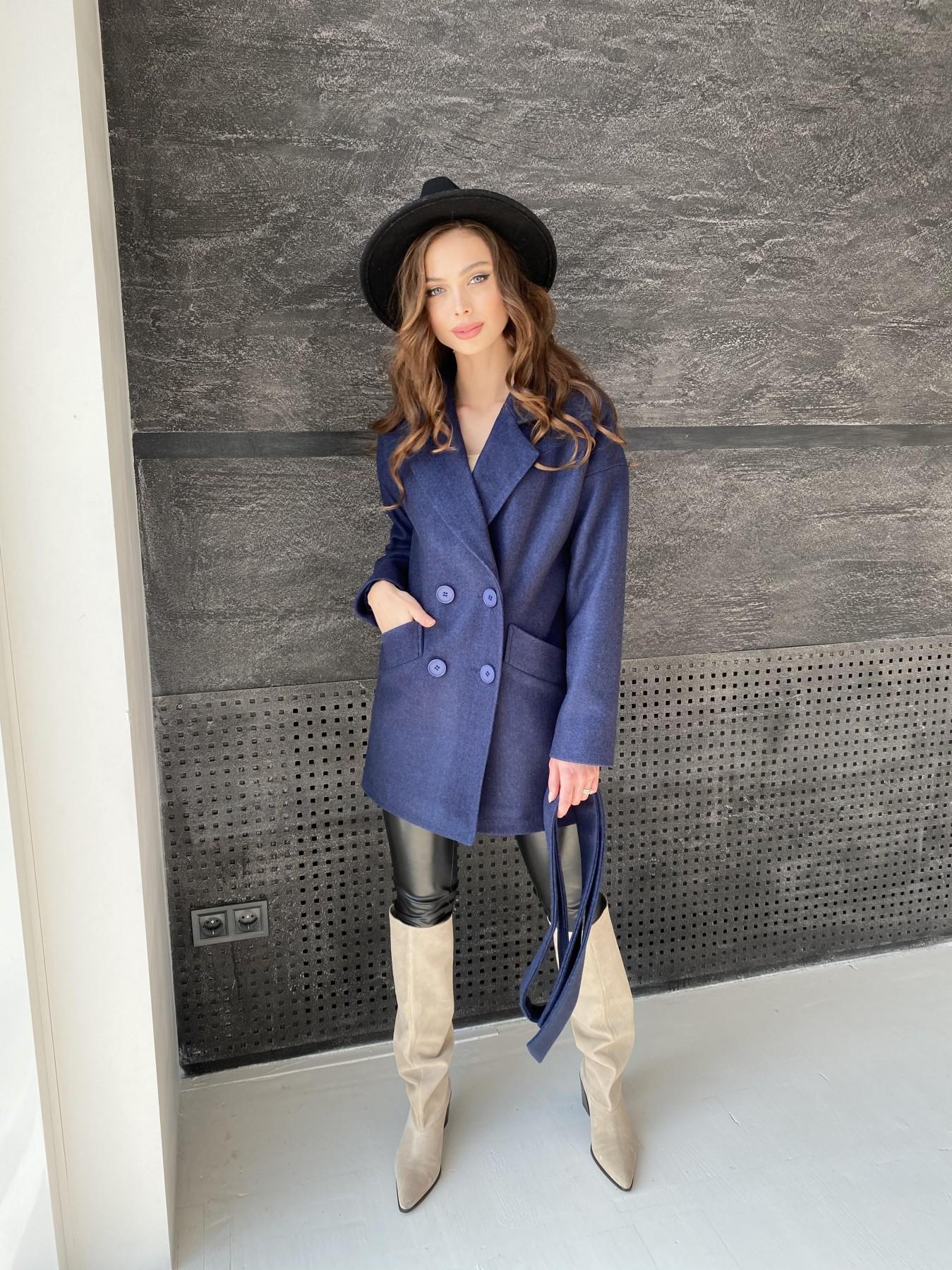 Бонд пальто  кашемировое меланж на трикотаже  10644 АРТ. 47180 Цвет: Т.синий 17 - фото 6, интернет магазин tm-modus.ru