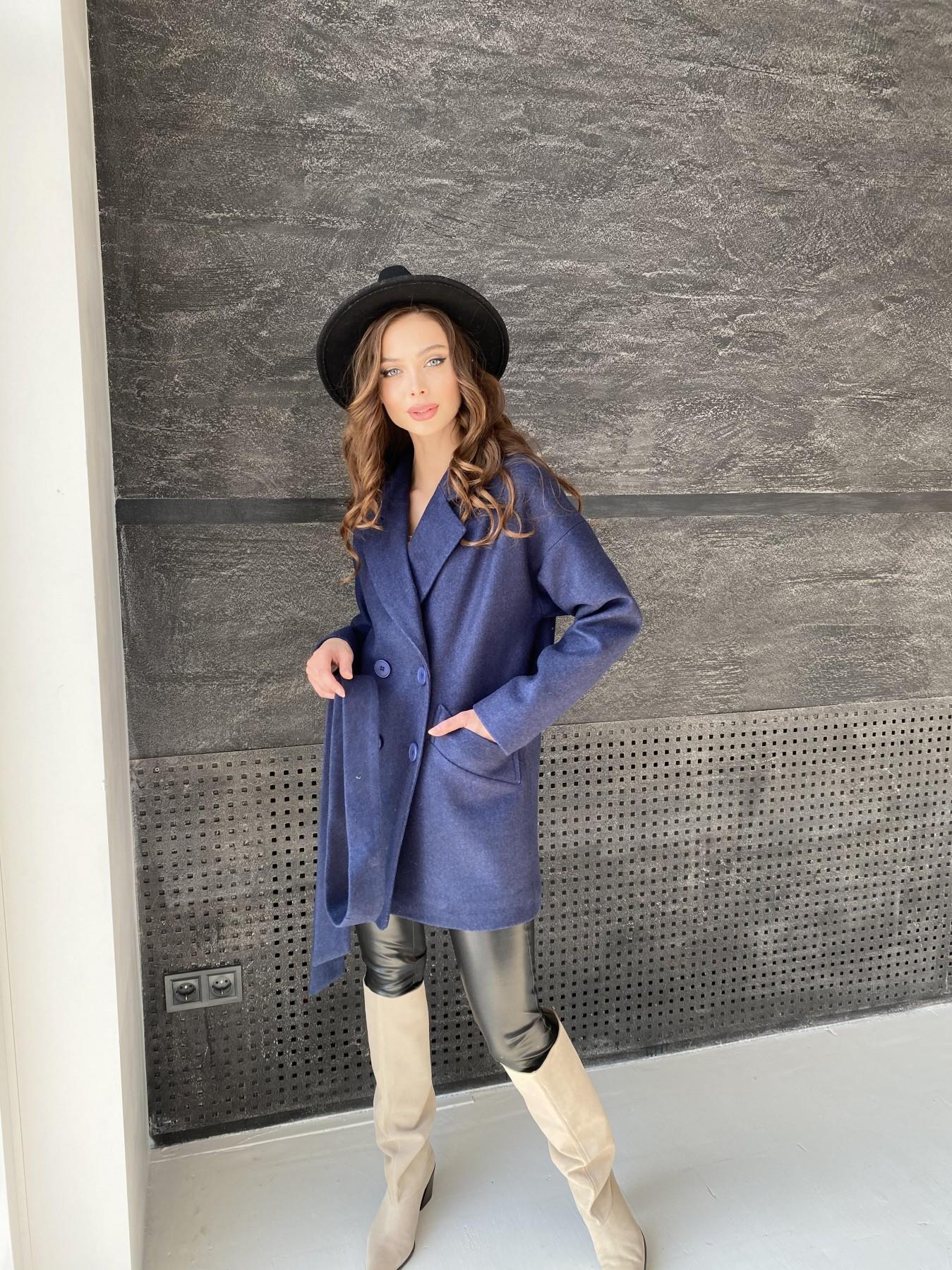 Бонд пальто  кашемировое меланж на трикотаже  10644 АРТ. 47180 Цвет: Т.синий 17 - фото 7, интернет магазин tm-modus.ru
