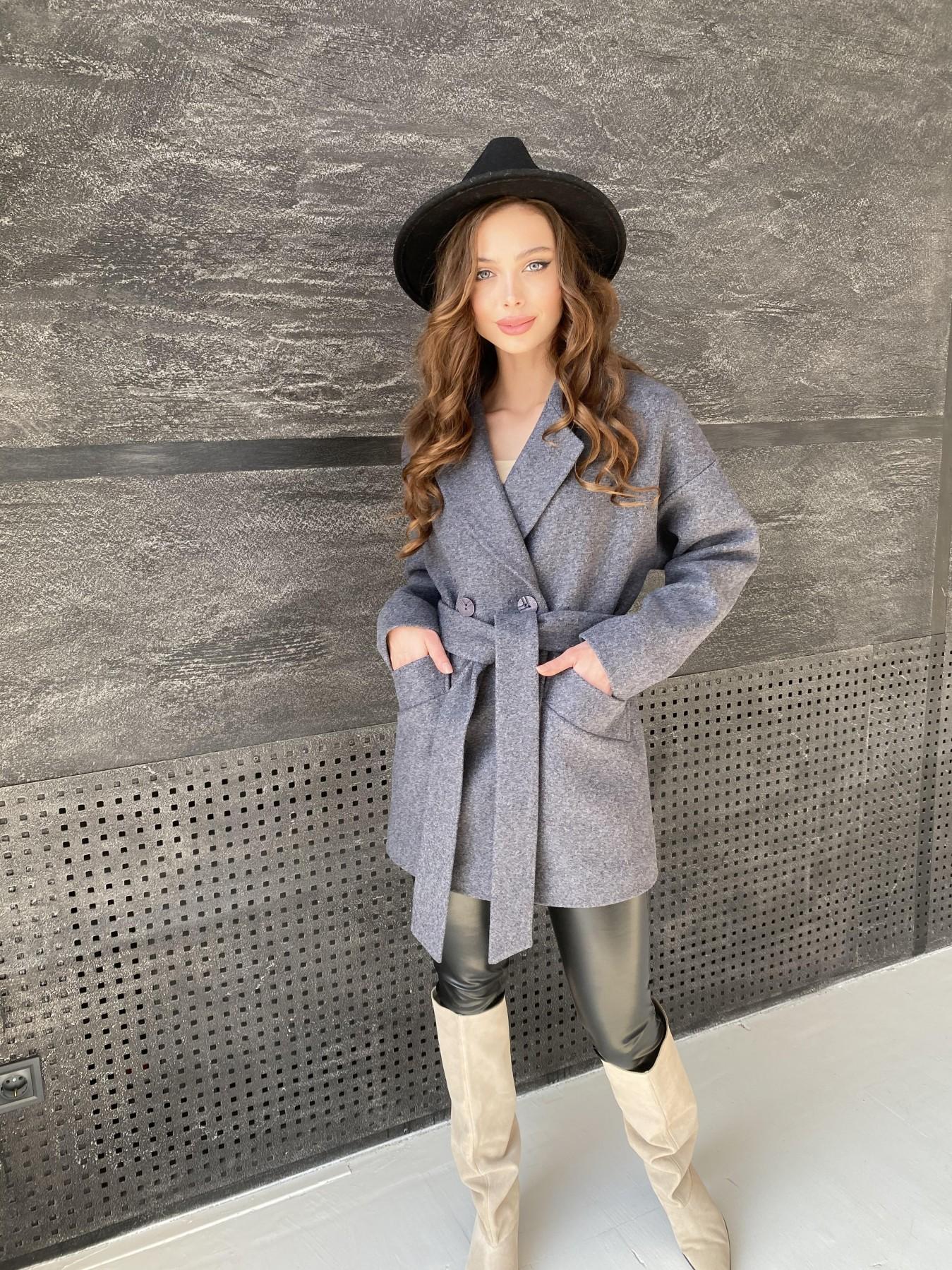 Пальто женское демисезонное купить в интернете Бонд пальто  кашемировое меланж на трикотаже  10644