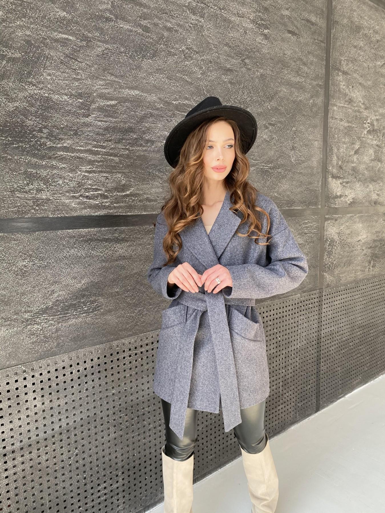 Бонд пальто  кашемировое меланж на трикотаже  10644 АРТ. 47182 Цвет: графит меланж - фото 5, интернет магазин tm-modus.ru