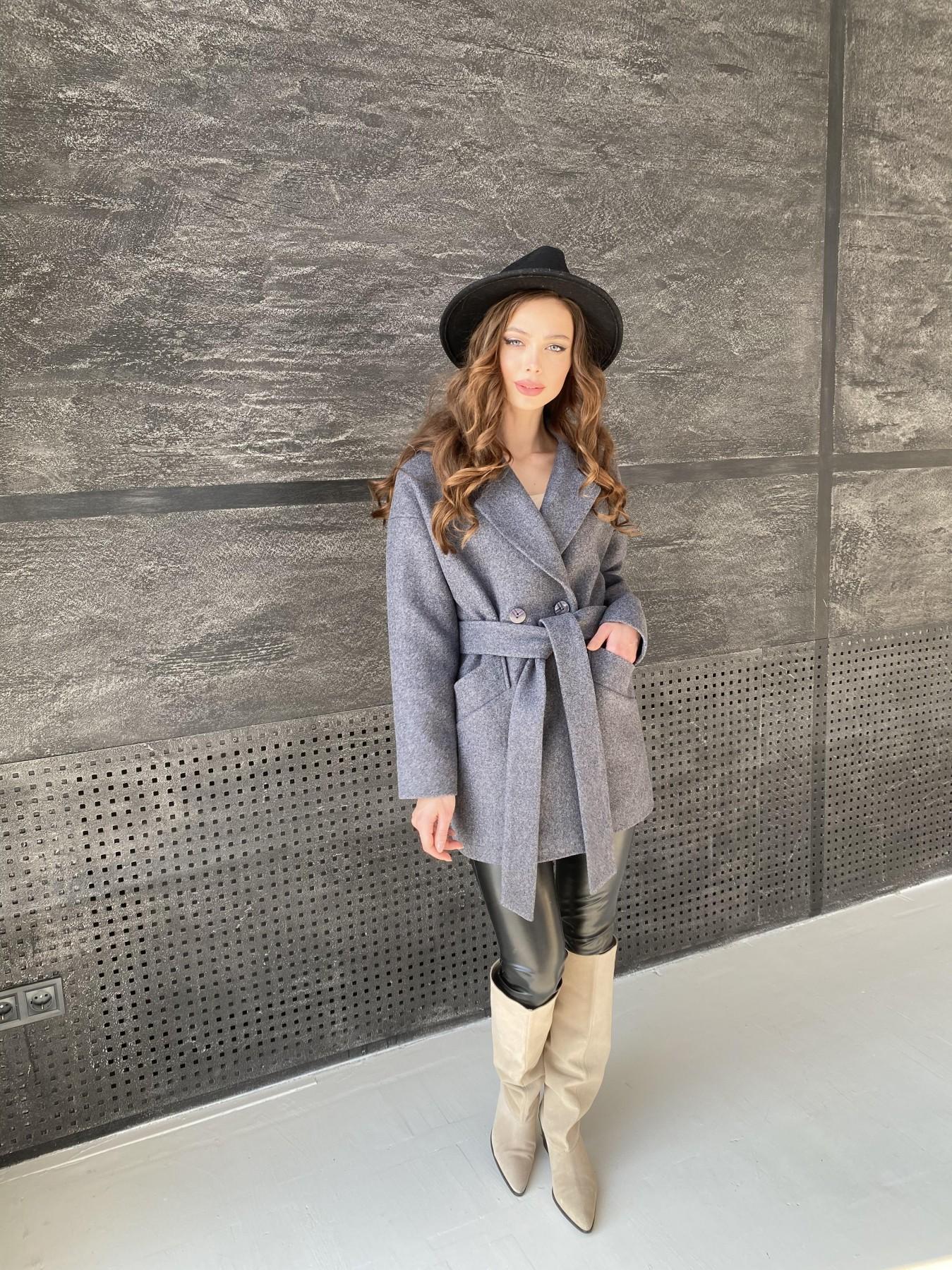 Бонд пальто  кашемировое меланж на трикотаже  10644 АРТ. 47182 Цвет: графит меланж - фото 7, интернет магазин tm-modus.ru