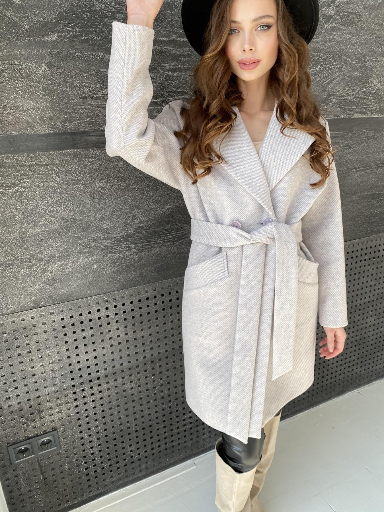 Сенсей Флеш пальто 10662 АРТ. 47187 Цвет: Бежевый 22 - фото 3, интернет магазин tm-modus.ru