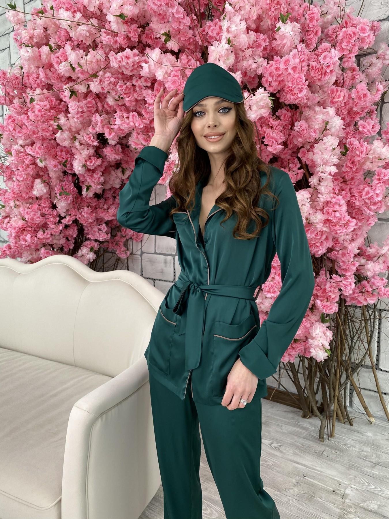 Шайн костюм из шелка  10778 АРТ. 47212 Цвет: Темно зеленый - фото 5, интернет магазин tm-modus.ru